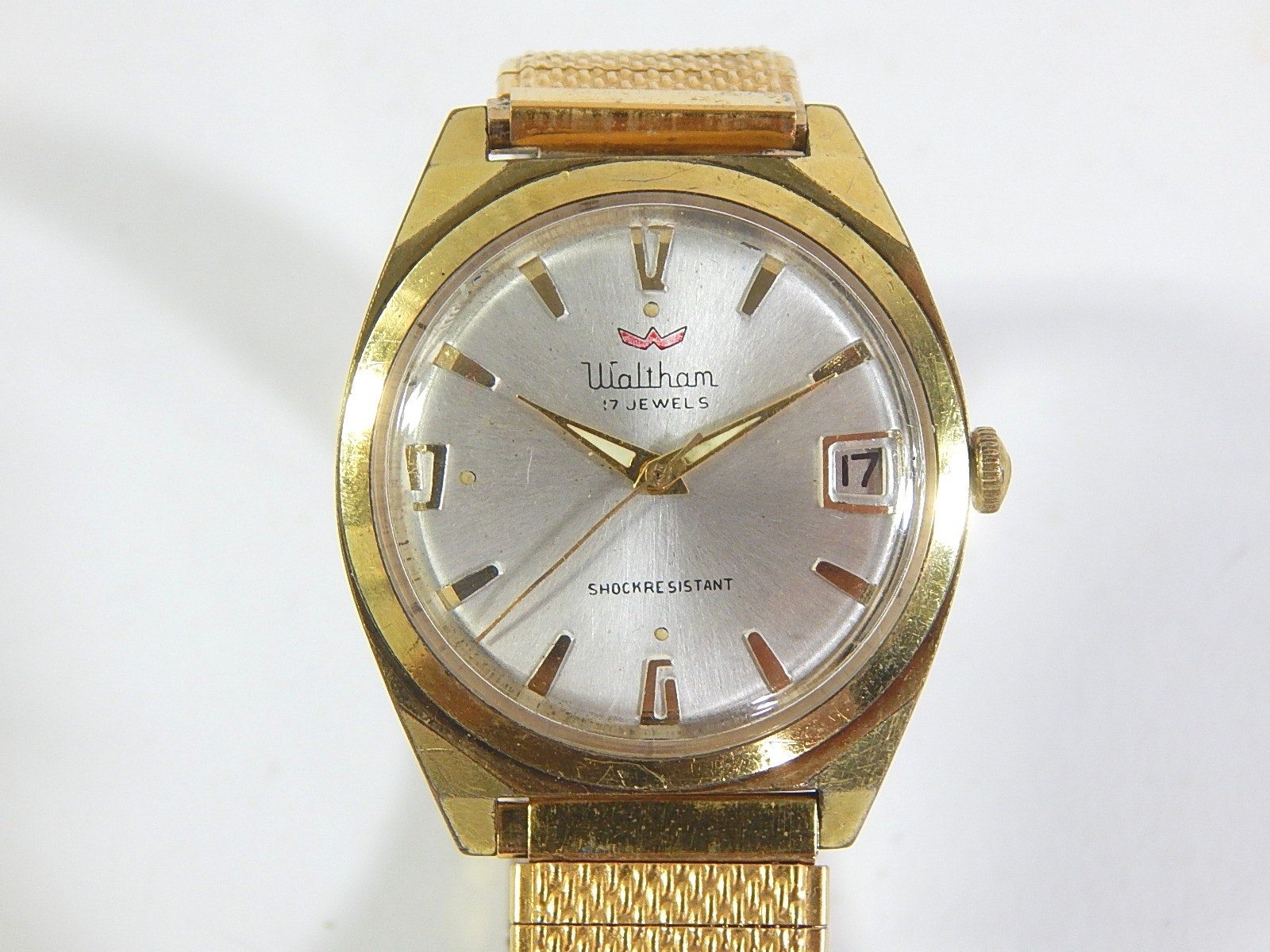 Waltham Gold-Tone 17 Jewel Wristwatch