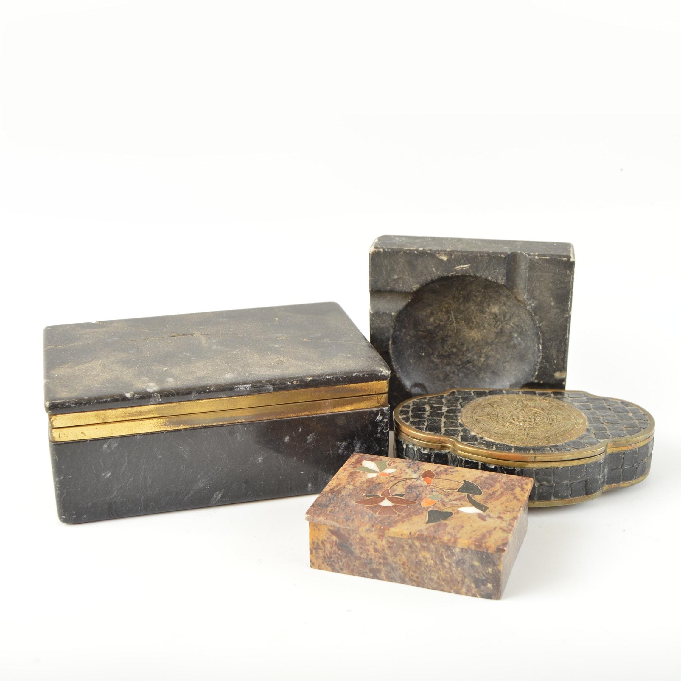 Stone Trinket Boxes