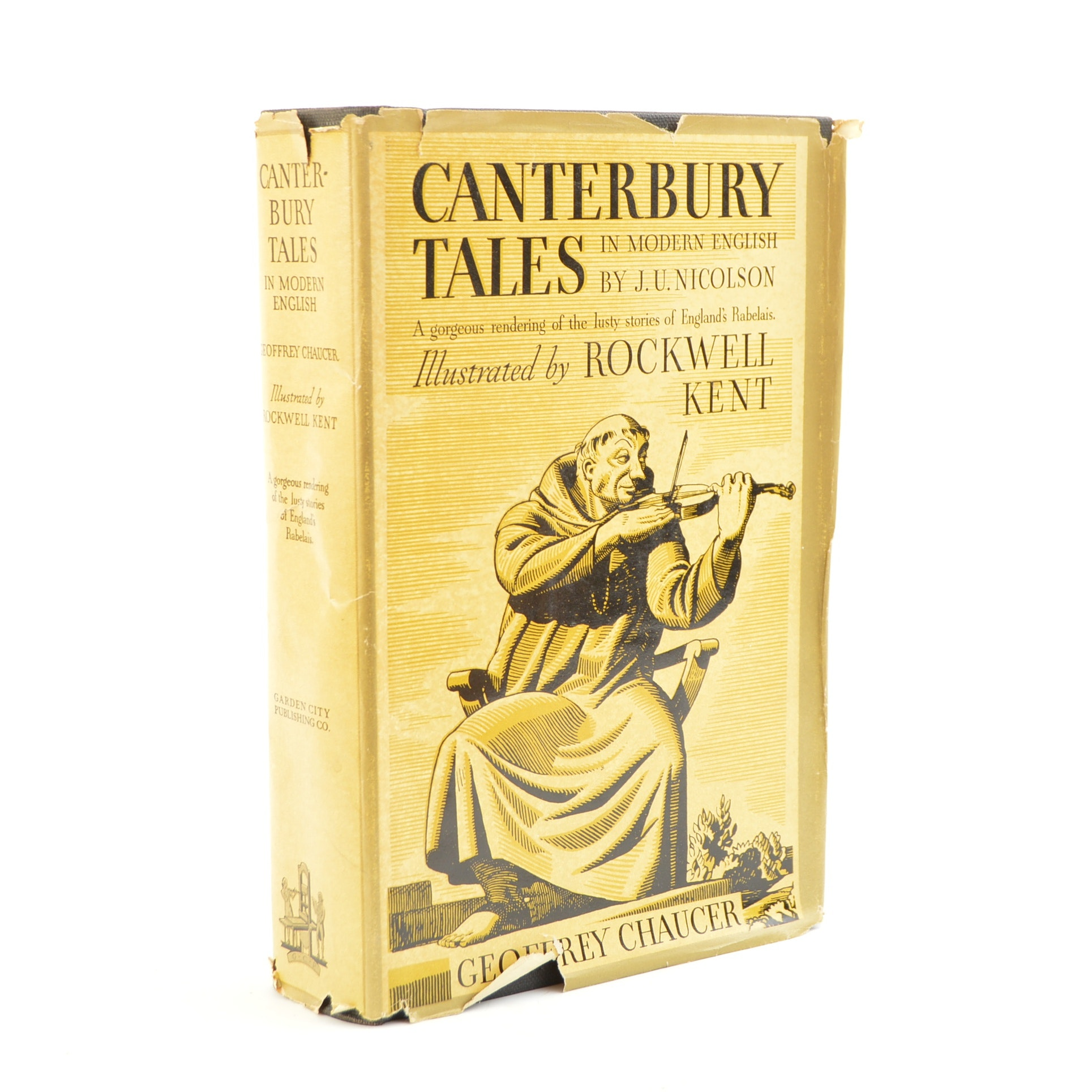 """1934 """"Canterbury Tales"""" with Rockwell Kent Illustrations"""