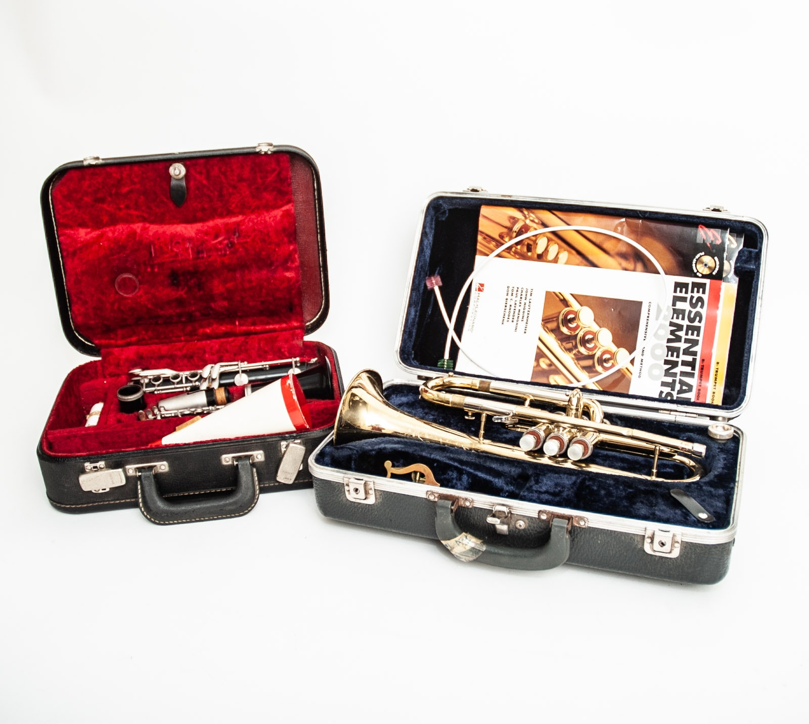 Vintage Vito Clarinet and Conn Brass Trumpet