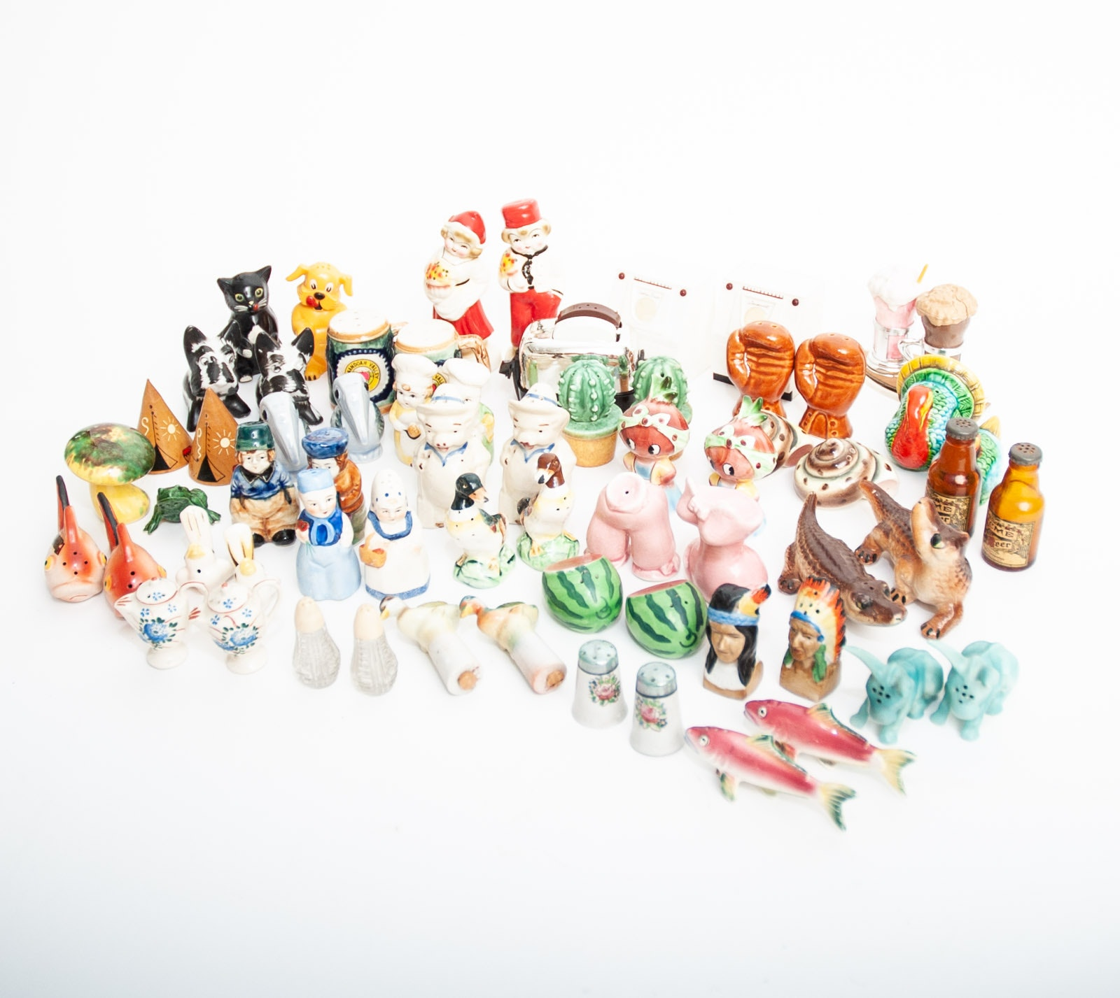 Mid Century Novelty Salt and Pepper Shaker Collection