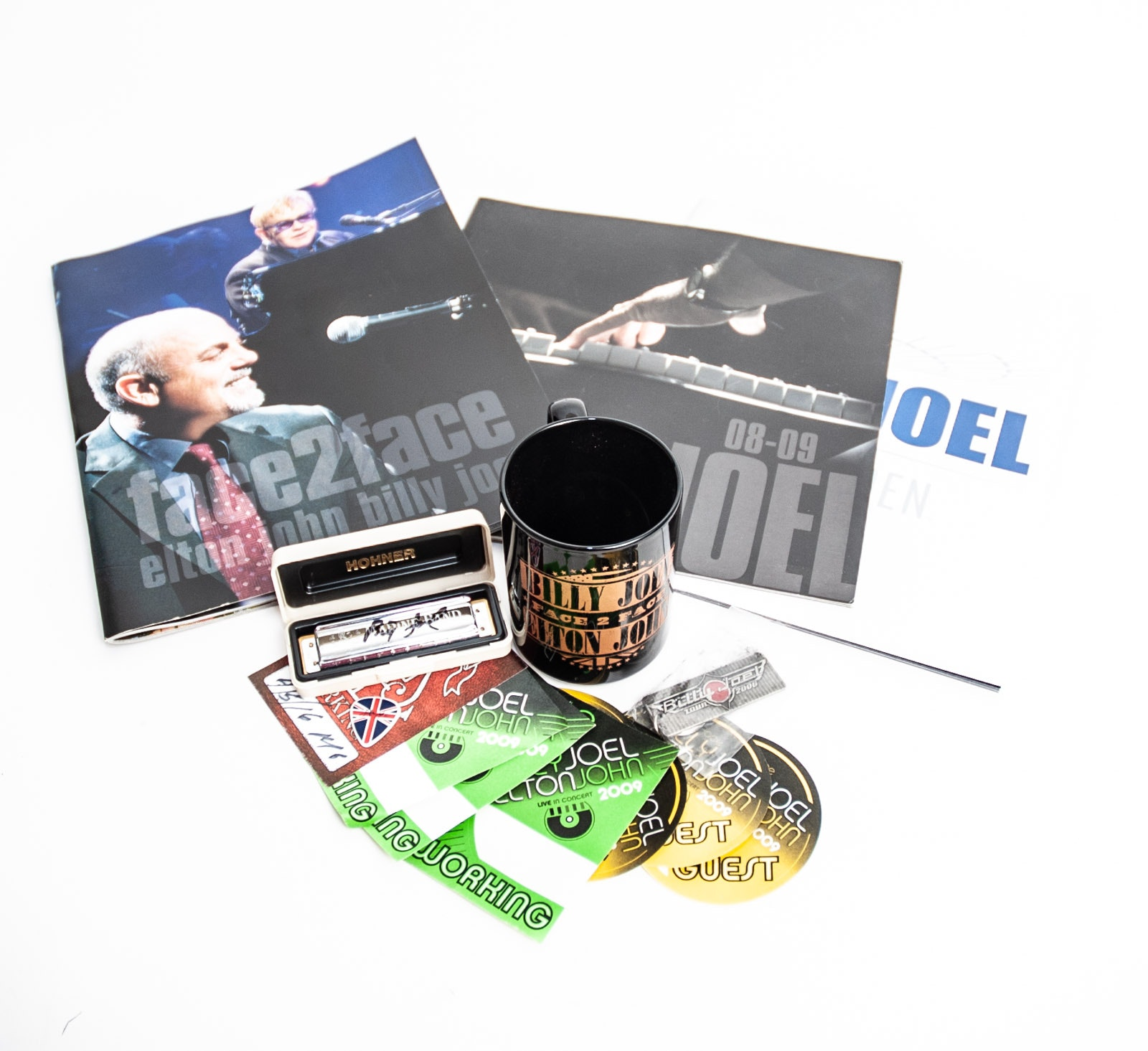 Autographed Billy Joel Hermonica and Tour Memorabilia