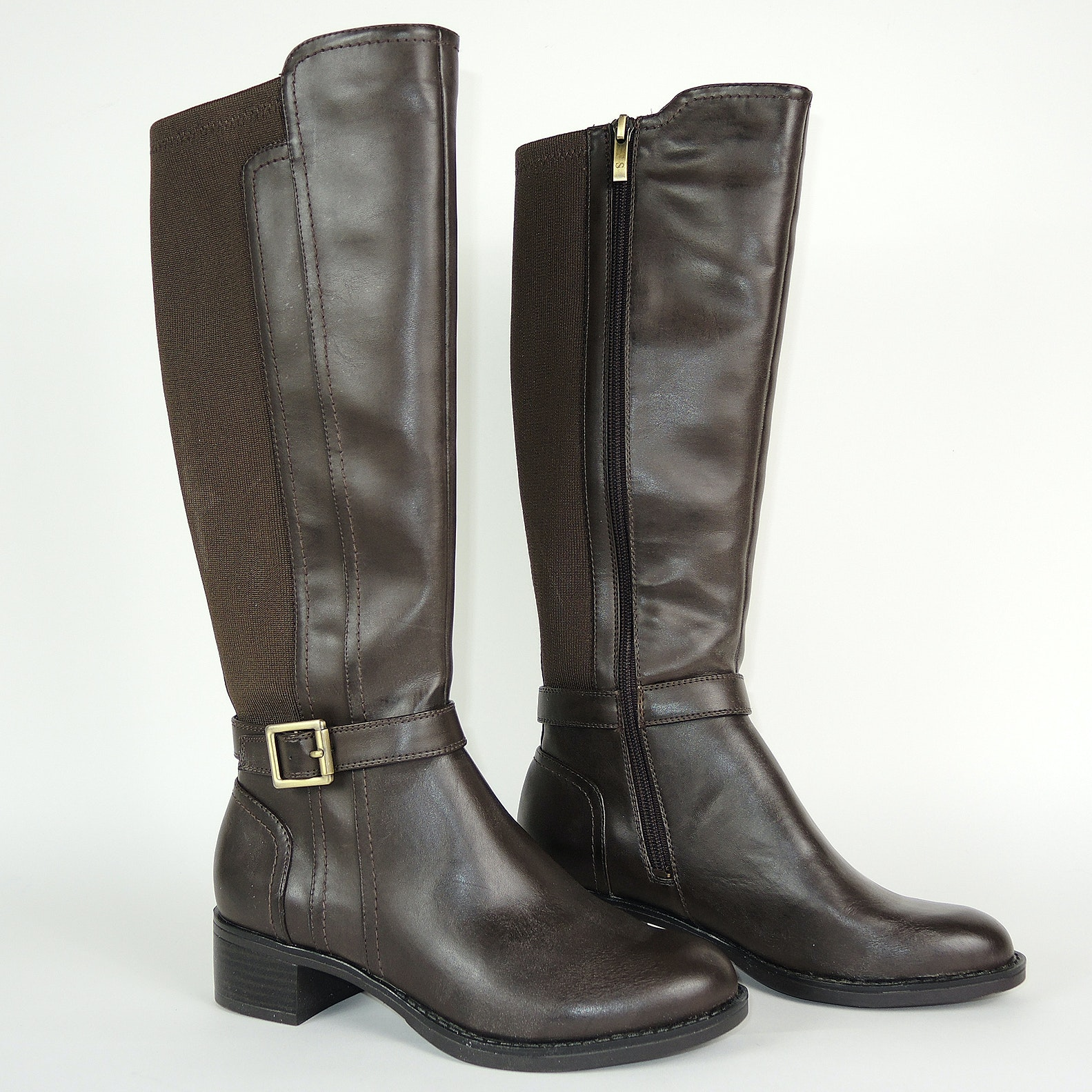 Franco Sarto Designer Brown Leather Tall Boots