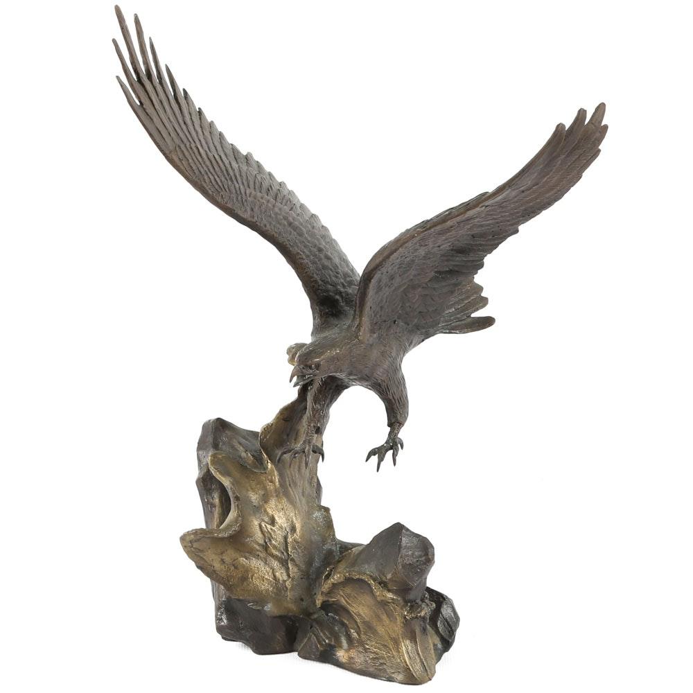 Ronald Van Ruyckevelt Bronze Eagle Statuette
