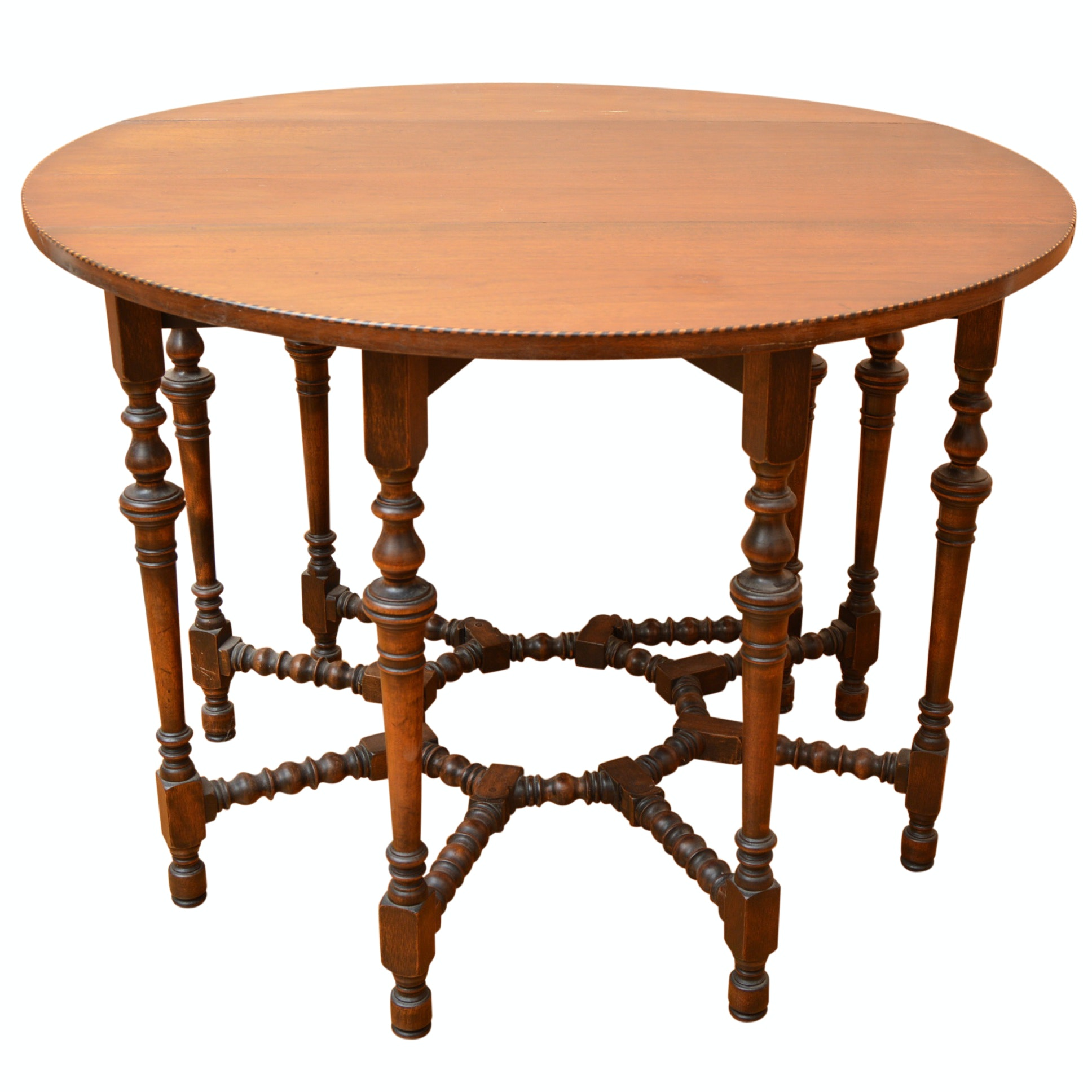 Vintage Walnut Gateleg Table