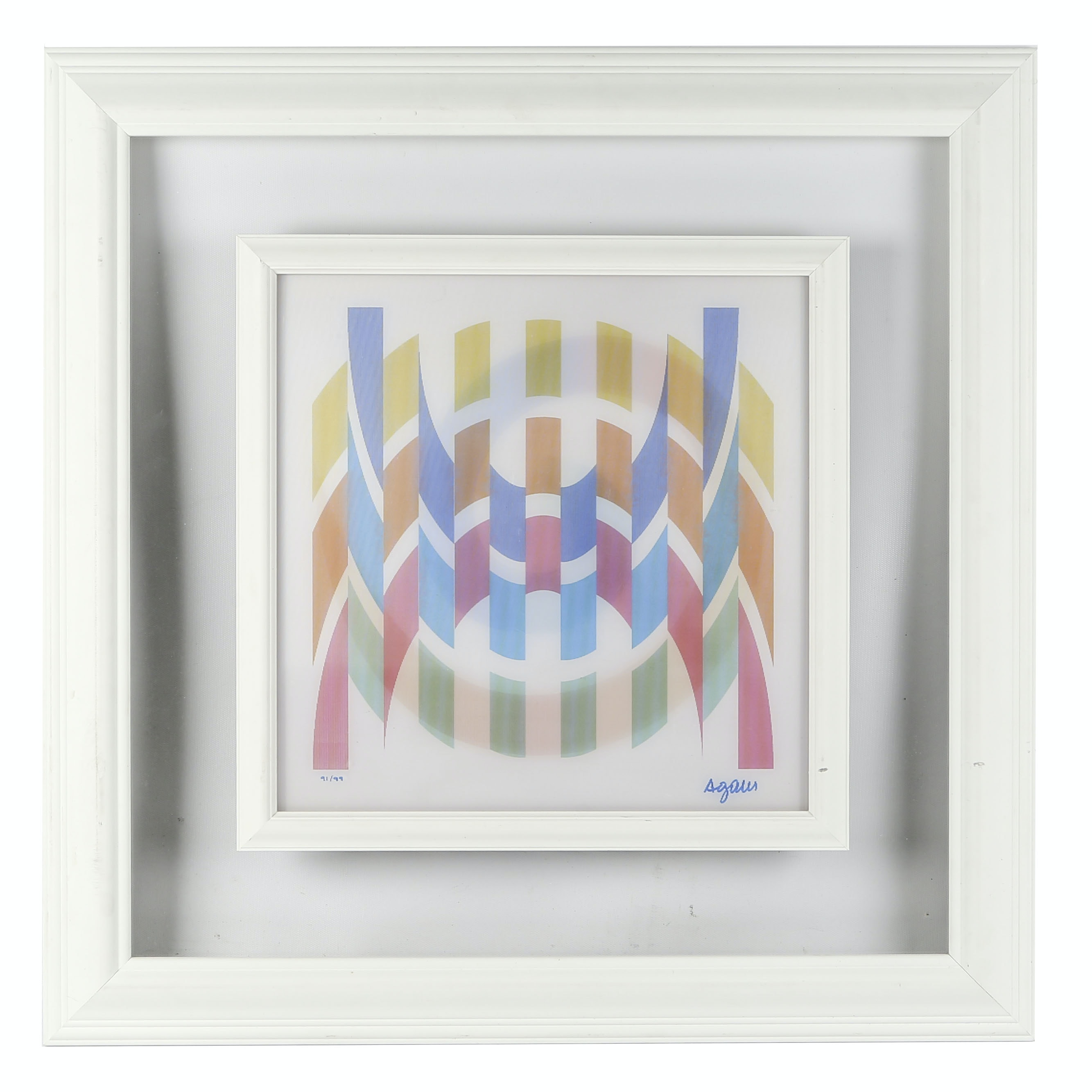 "Yaacov Agam Limited Edition Agamograph ""Courb 3-4"""