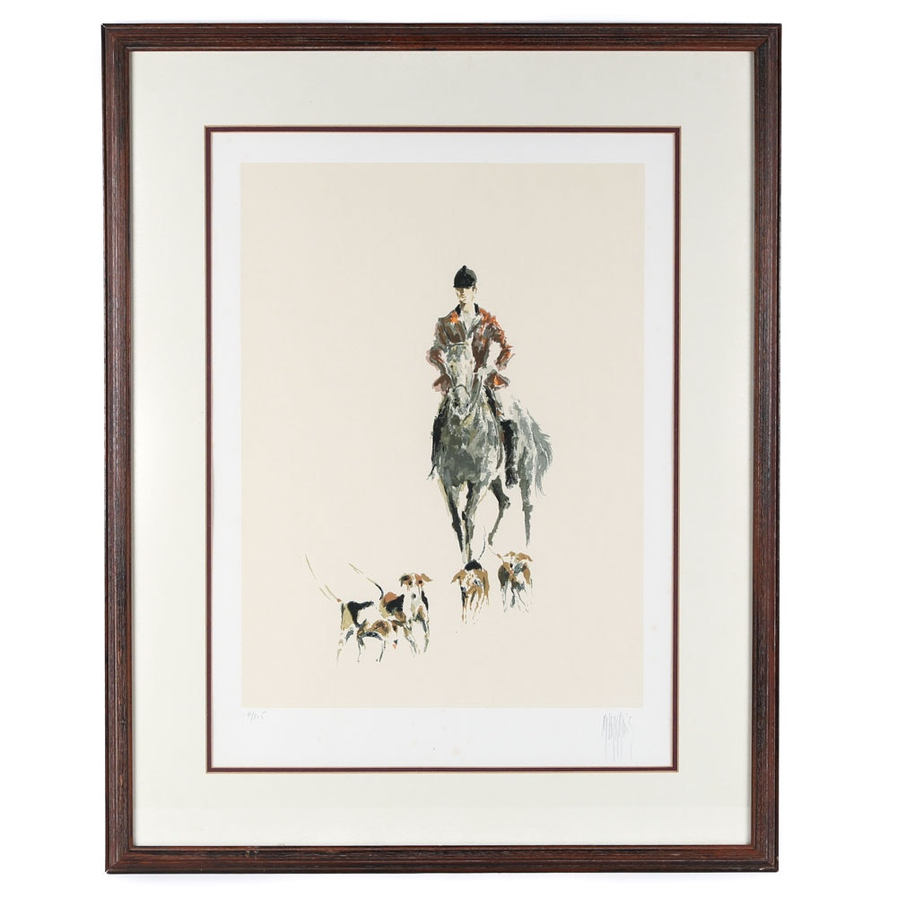 Signed Limited Edition Fox Hunt Lithograph