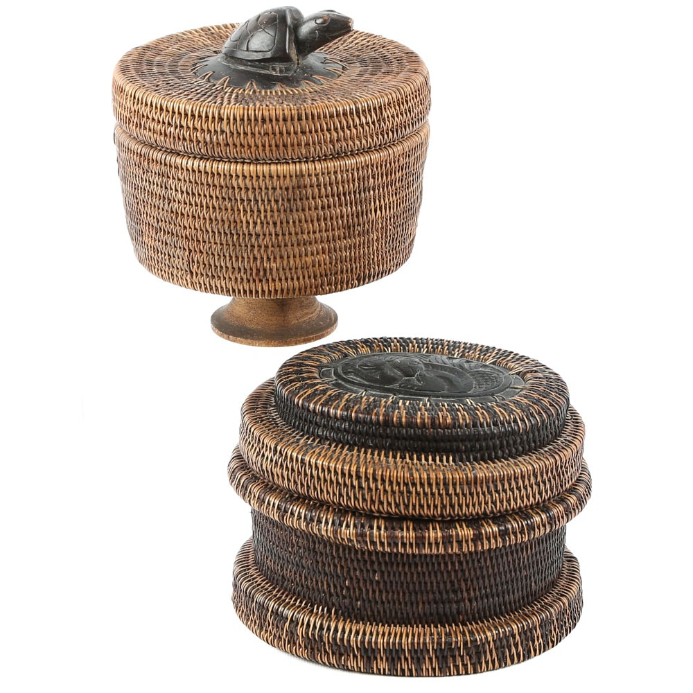Handcrafted Indonesian Trinket Baskets