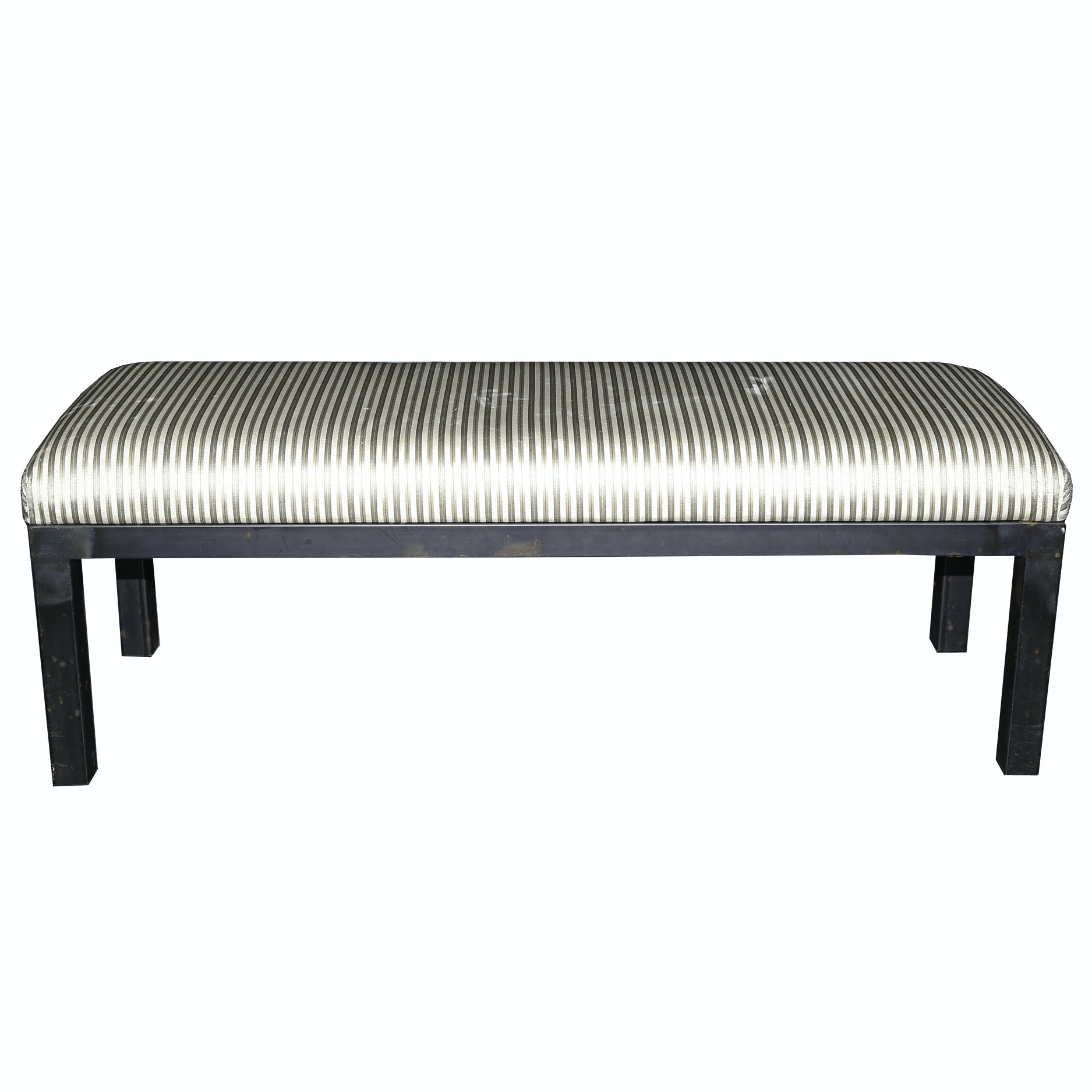 Upholstered Metal Bench