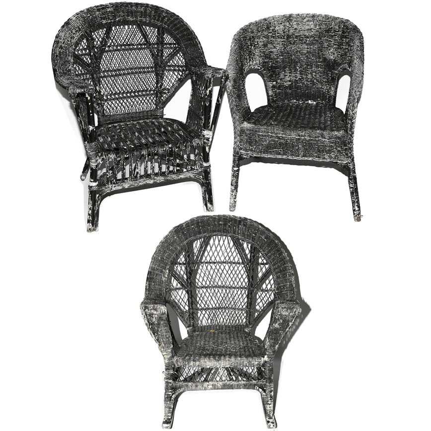 Vintage Wicker Patio Chairs