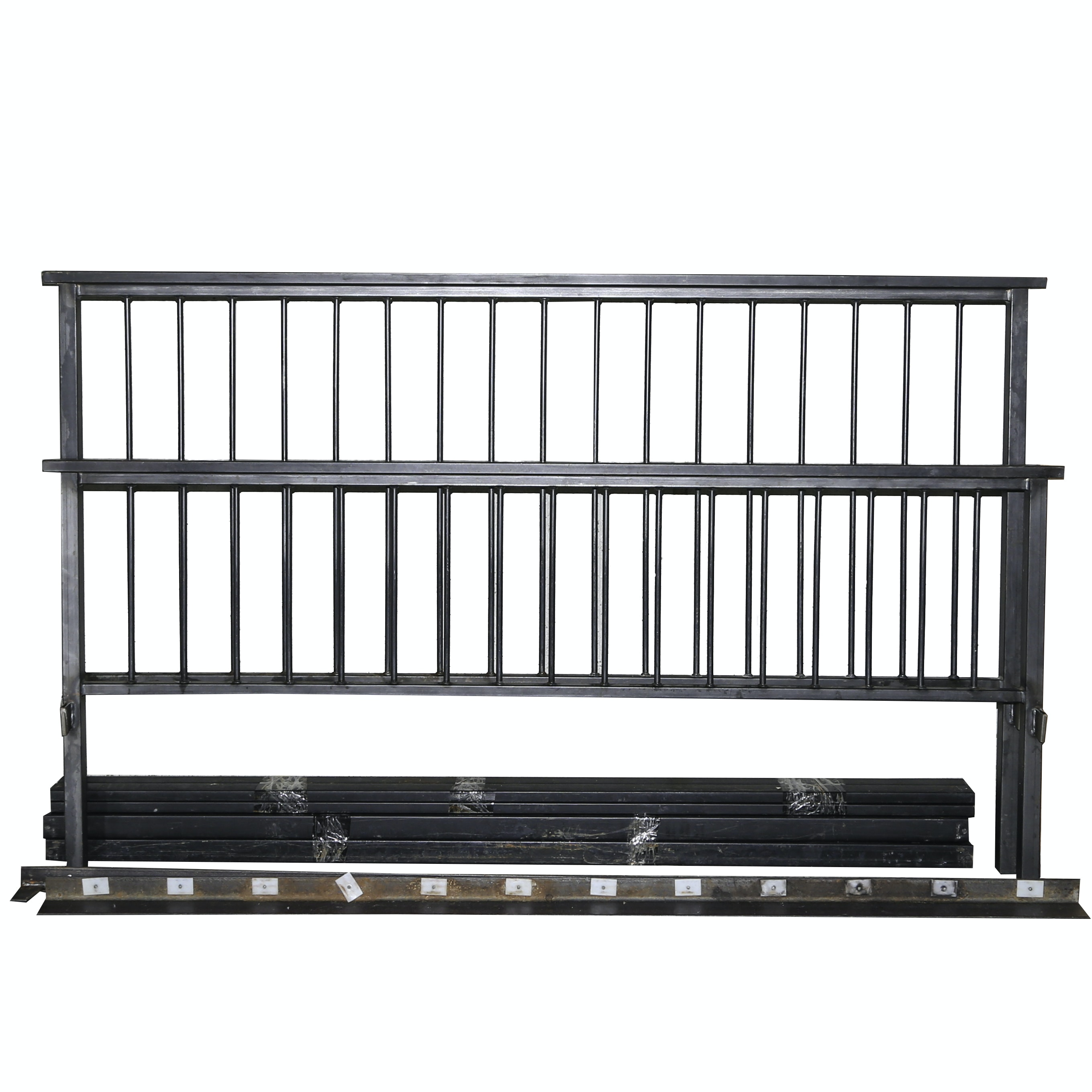 Contemporary King-Size Metal Bed Frame