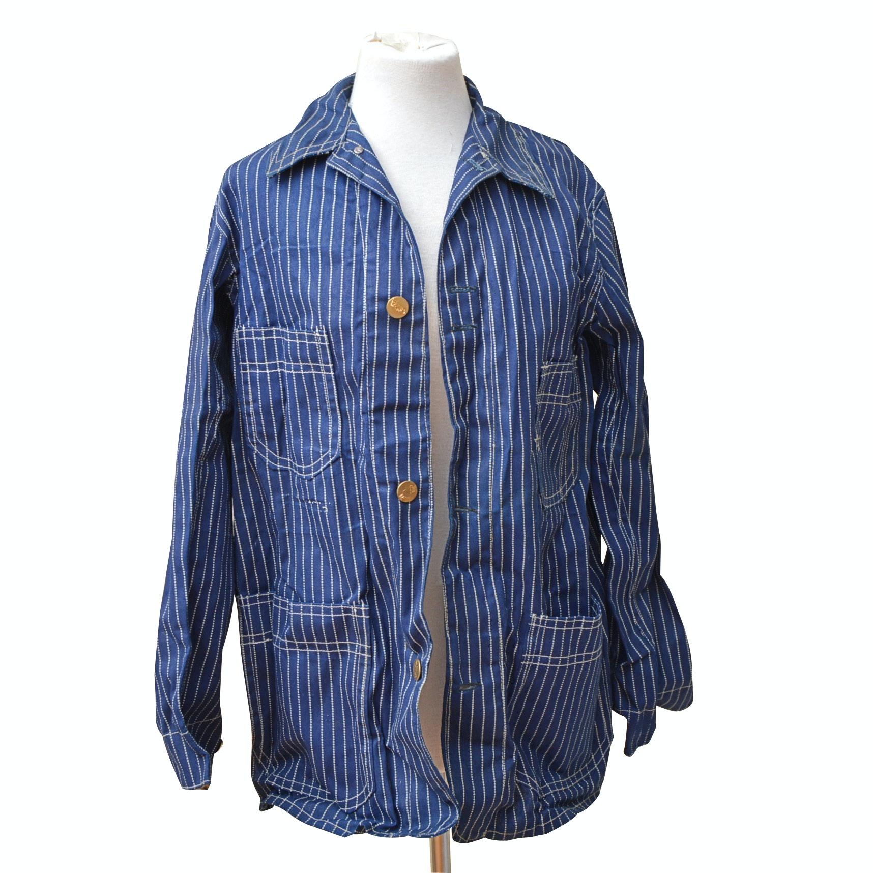 Vintage Fort Brand Denim Railroad Jacket