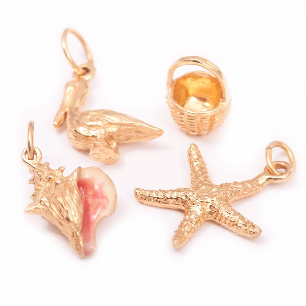 14K Yellow Gold Charms