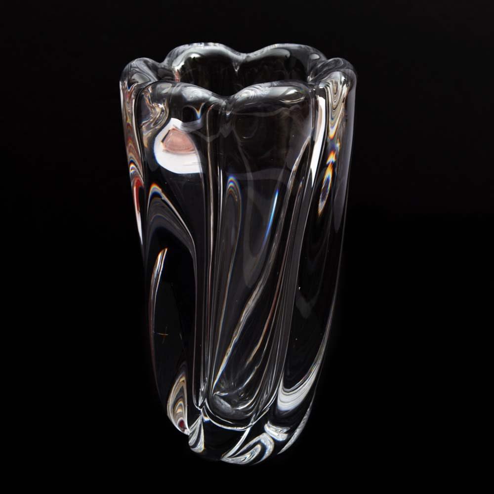 Vintage Swedish Orrefors Crystal Vase