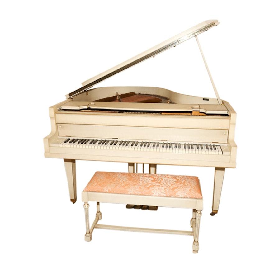 Vintage Bush & Gerts Piano Company Painted Wood Baby Grand