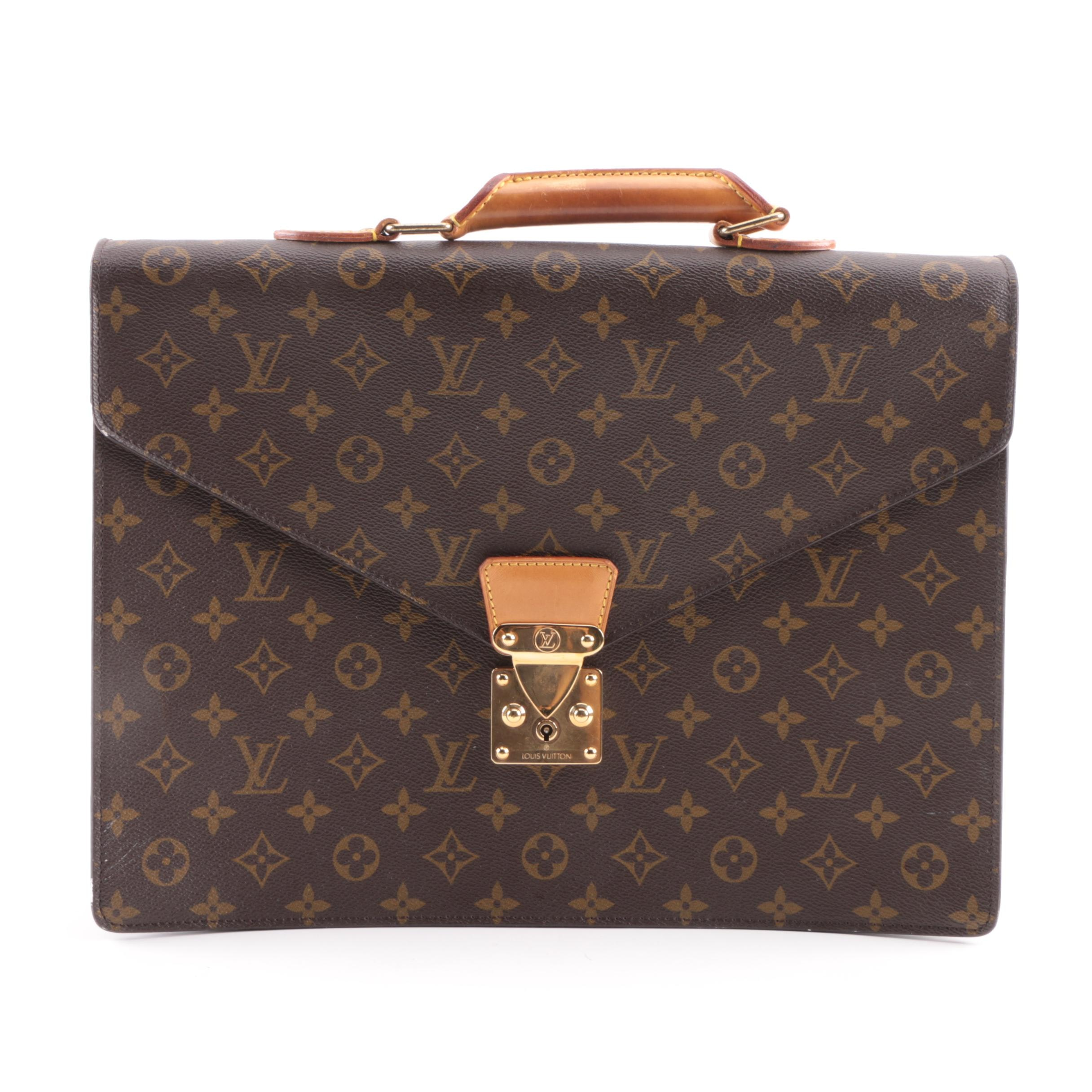 1992 Louis Vuitton of Paris Monogrammed Canvas Briefcase