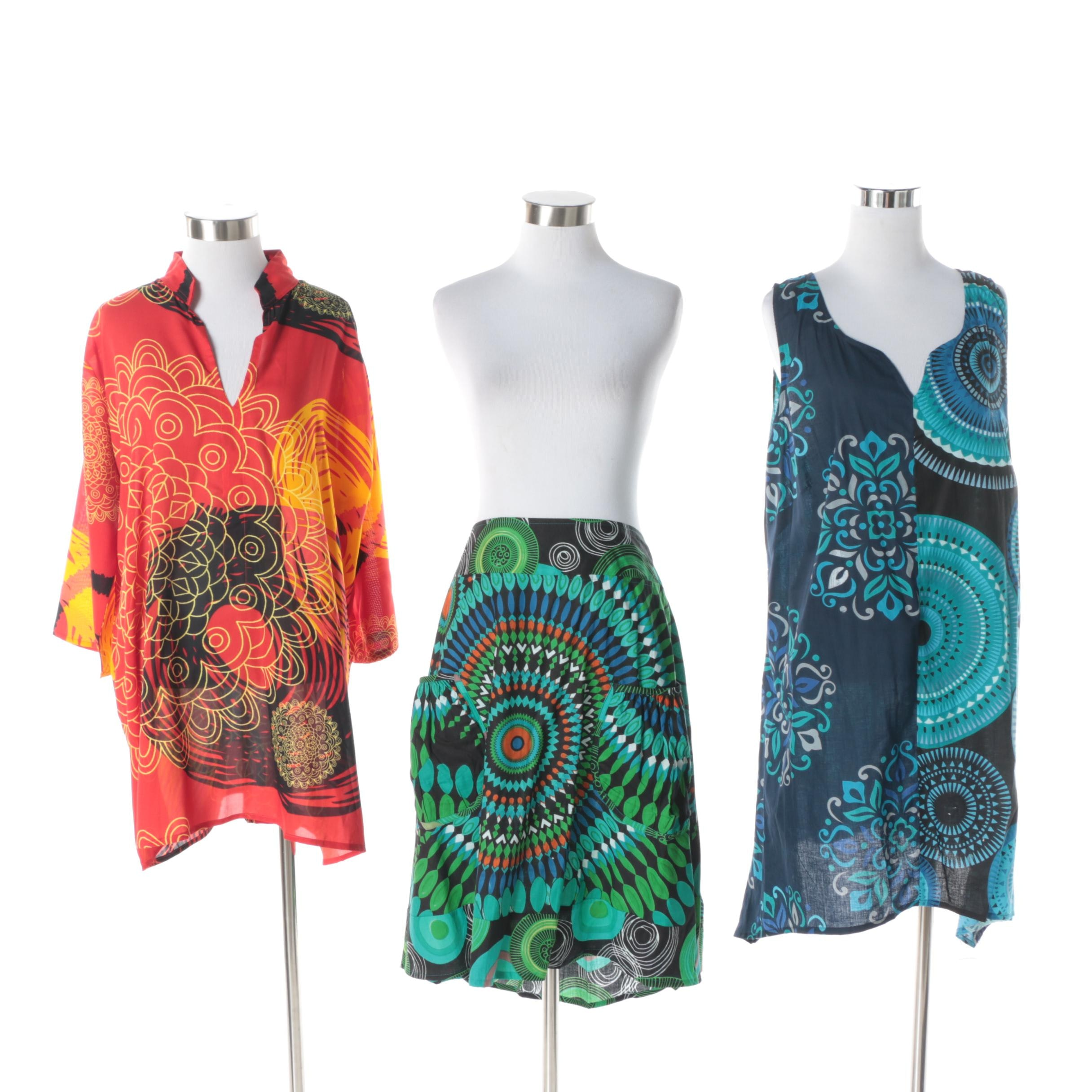 Aller Simplement Skirt, Dress and Tunic with Mandala Patterns
