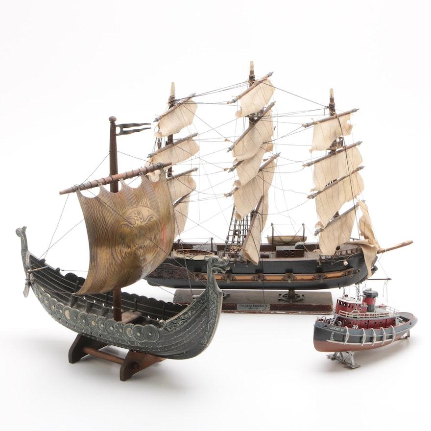 Spanish Fragata Española, Danish Iron Art and Revell Model Ships