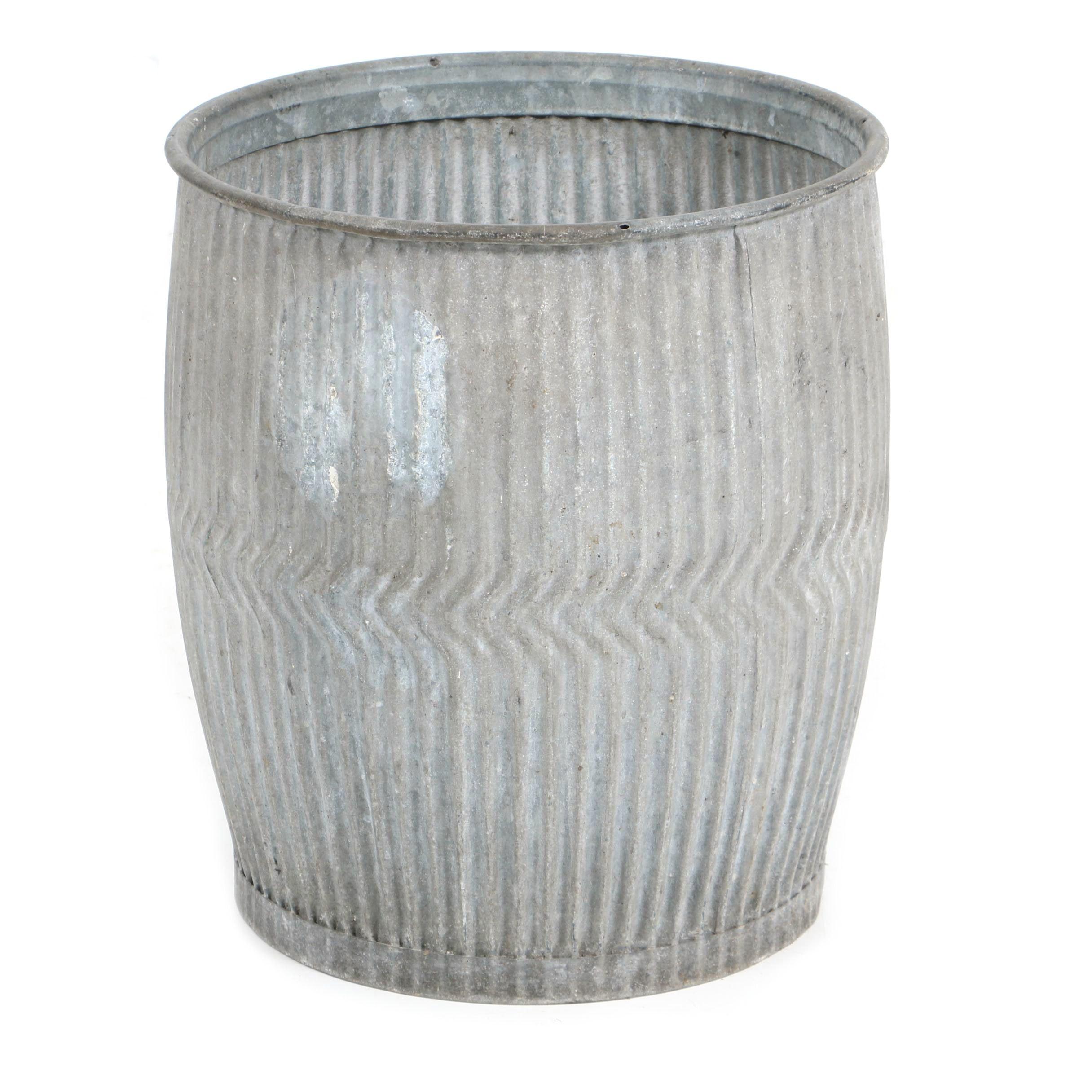 20th Century English Zinc Laundry Barrel