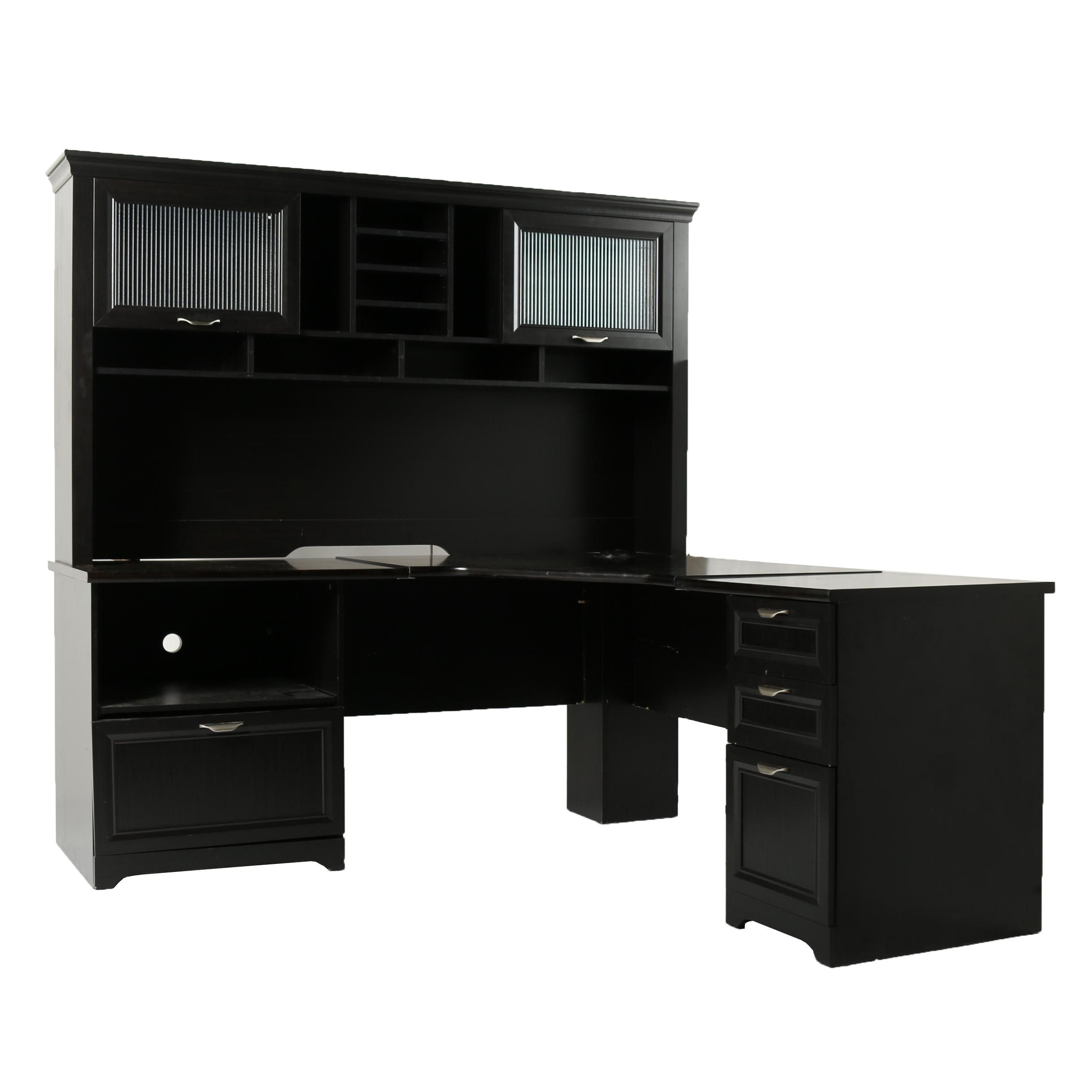 Contemporary Corner Desk With Hutch