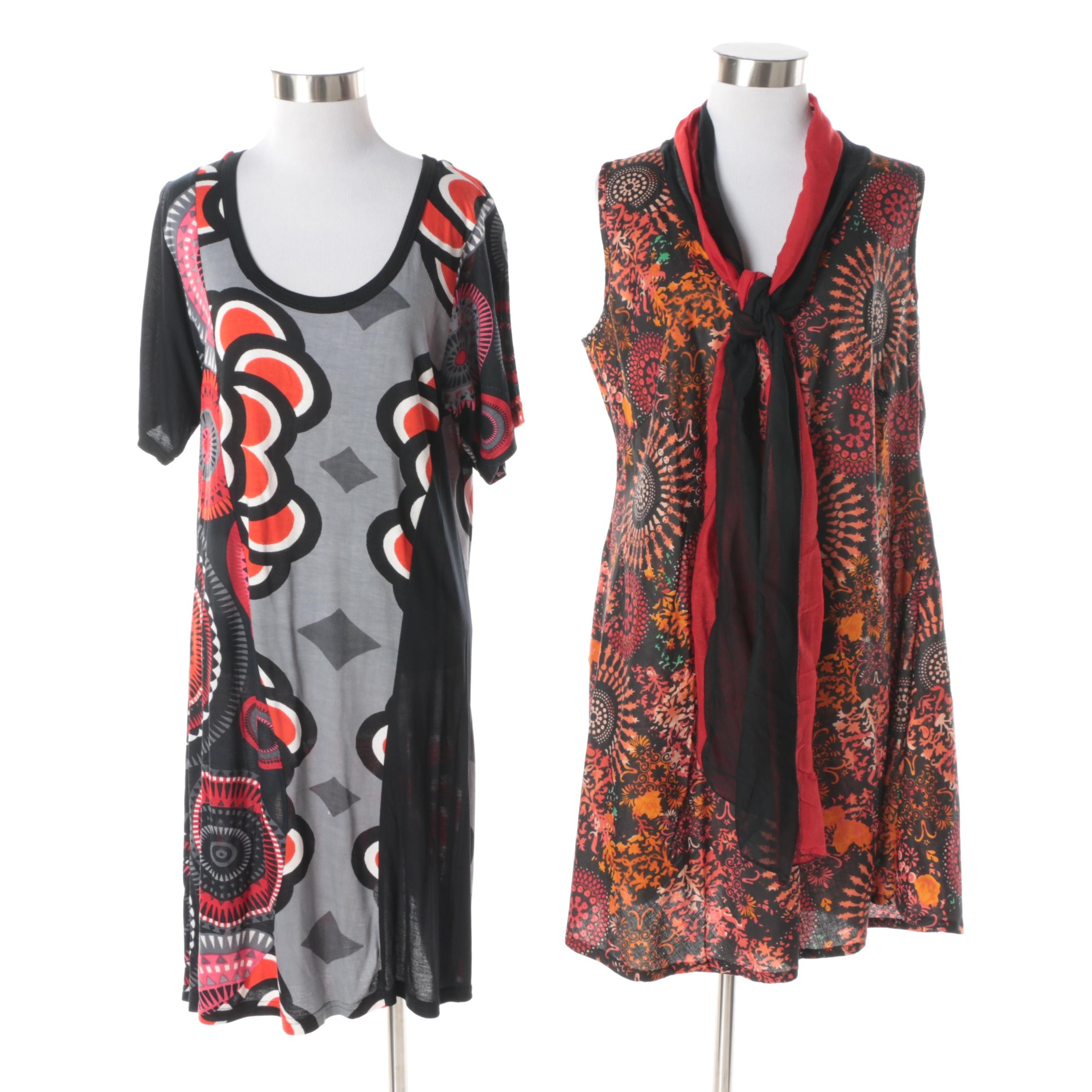 Aller Simplement Mandala Patterned Dresses