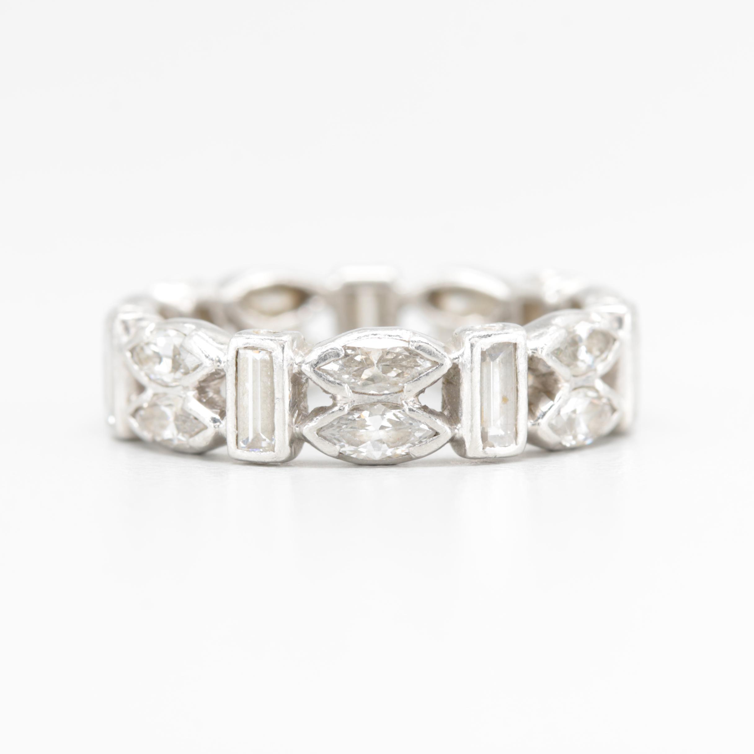 Platinum 1.96 CTW Diamond Ring