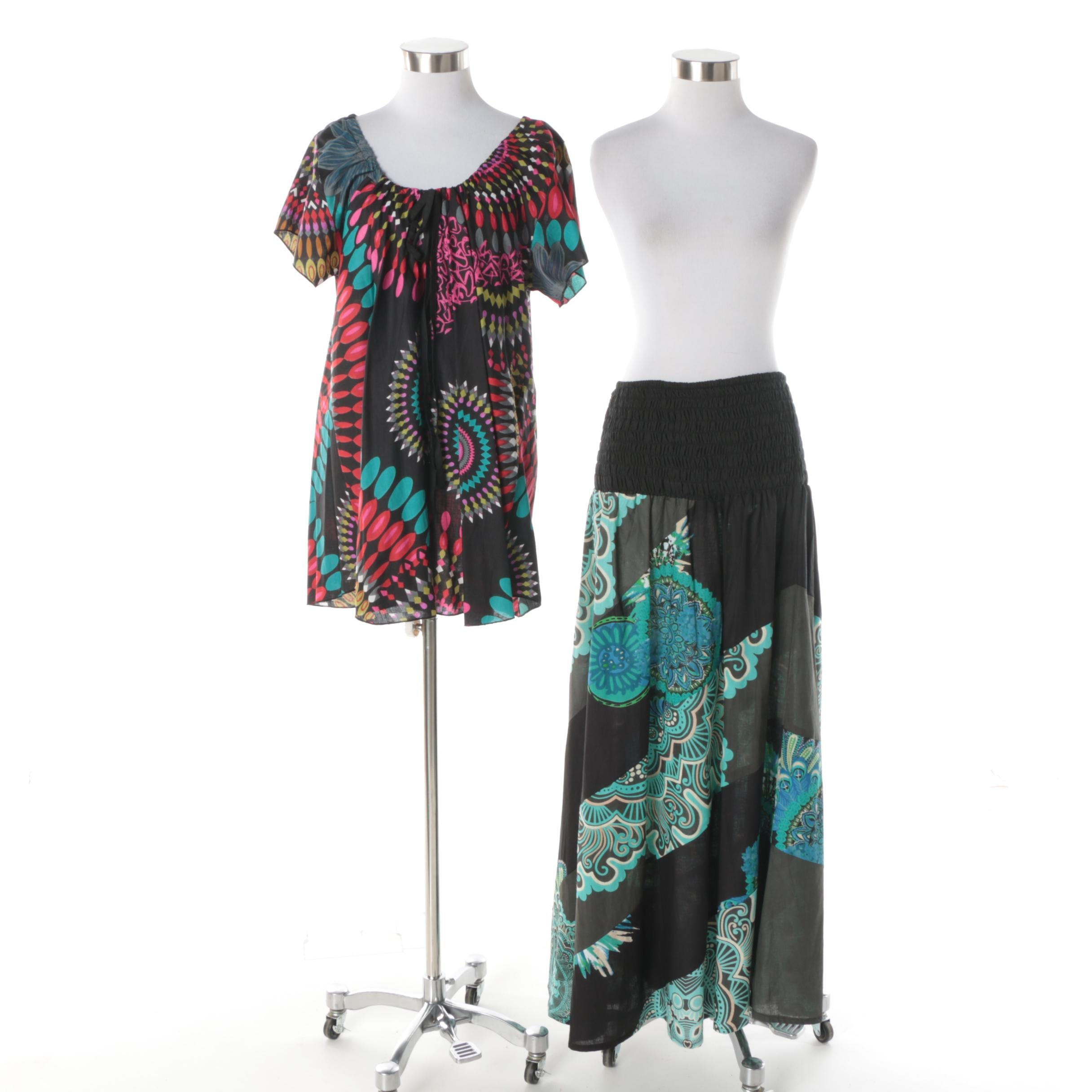 Aller Simplement Tunic Top and Convertible Skirt/Strapless Dress