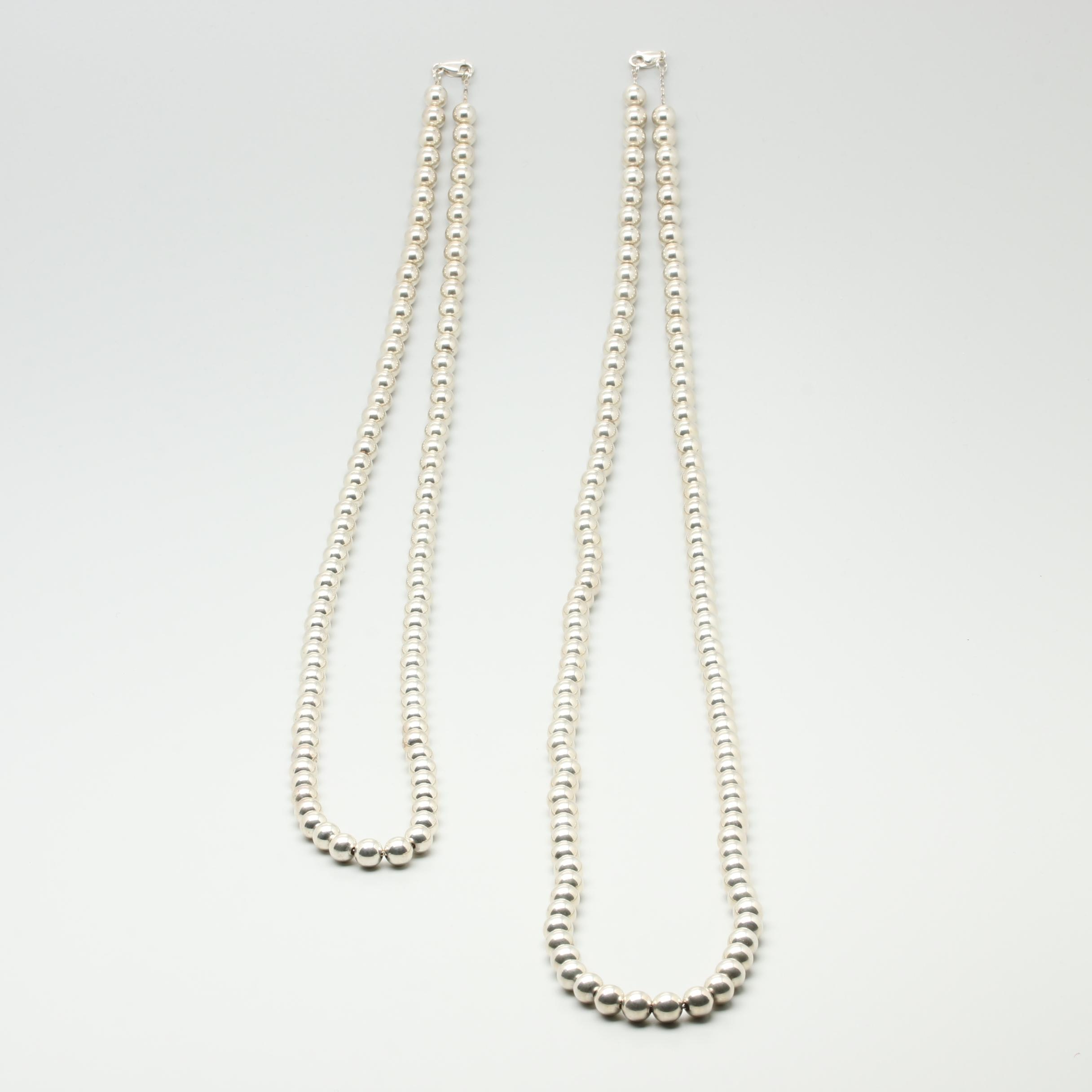 Sterling Silver Beaded Necklace Selection