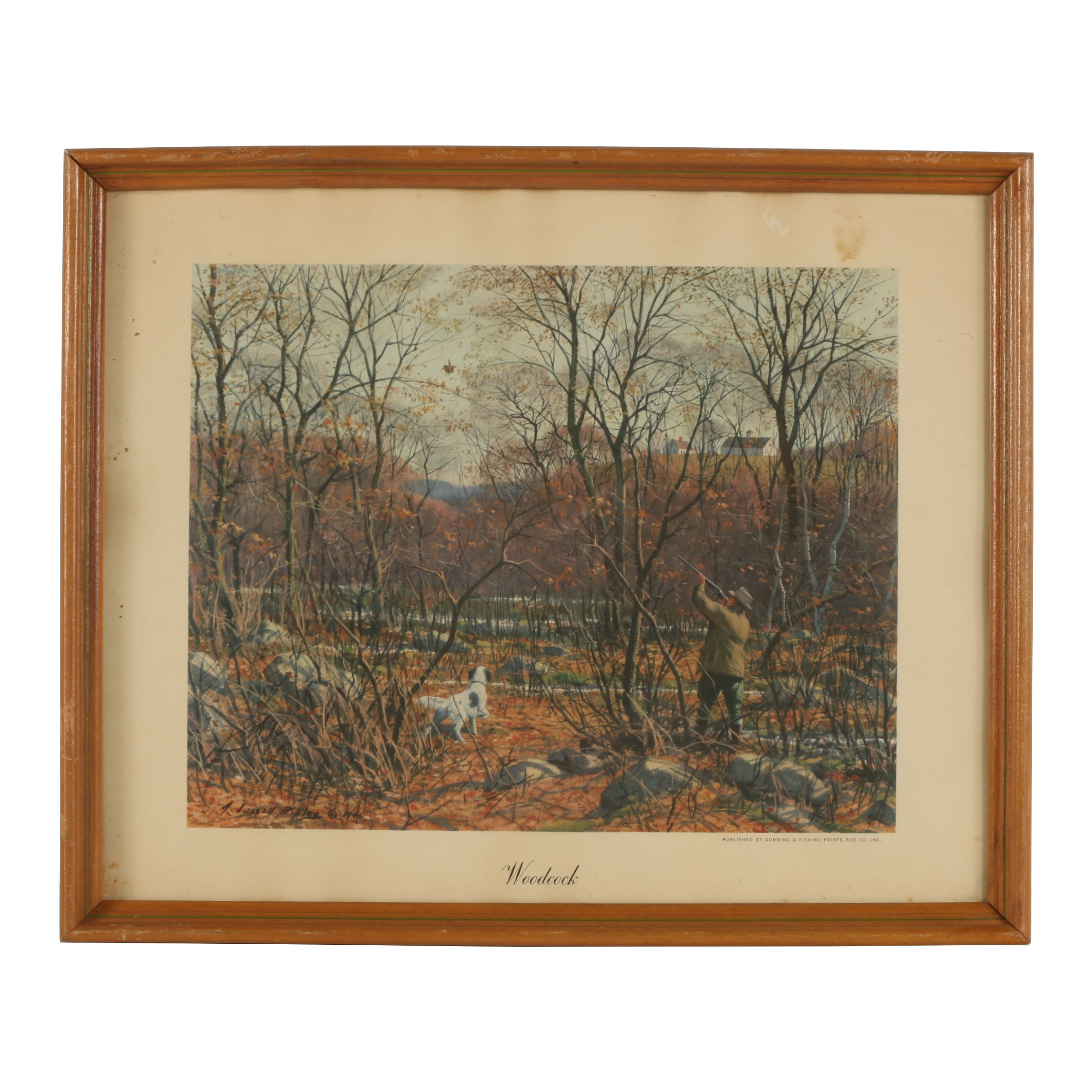 "Offset Lithograph after Aiden Lassall Ripley ""Woodcock"""