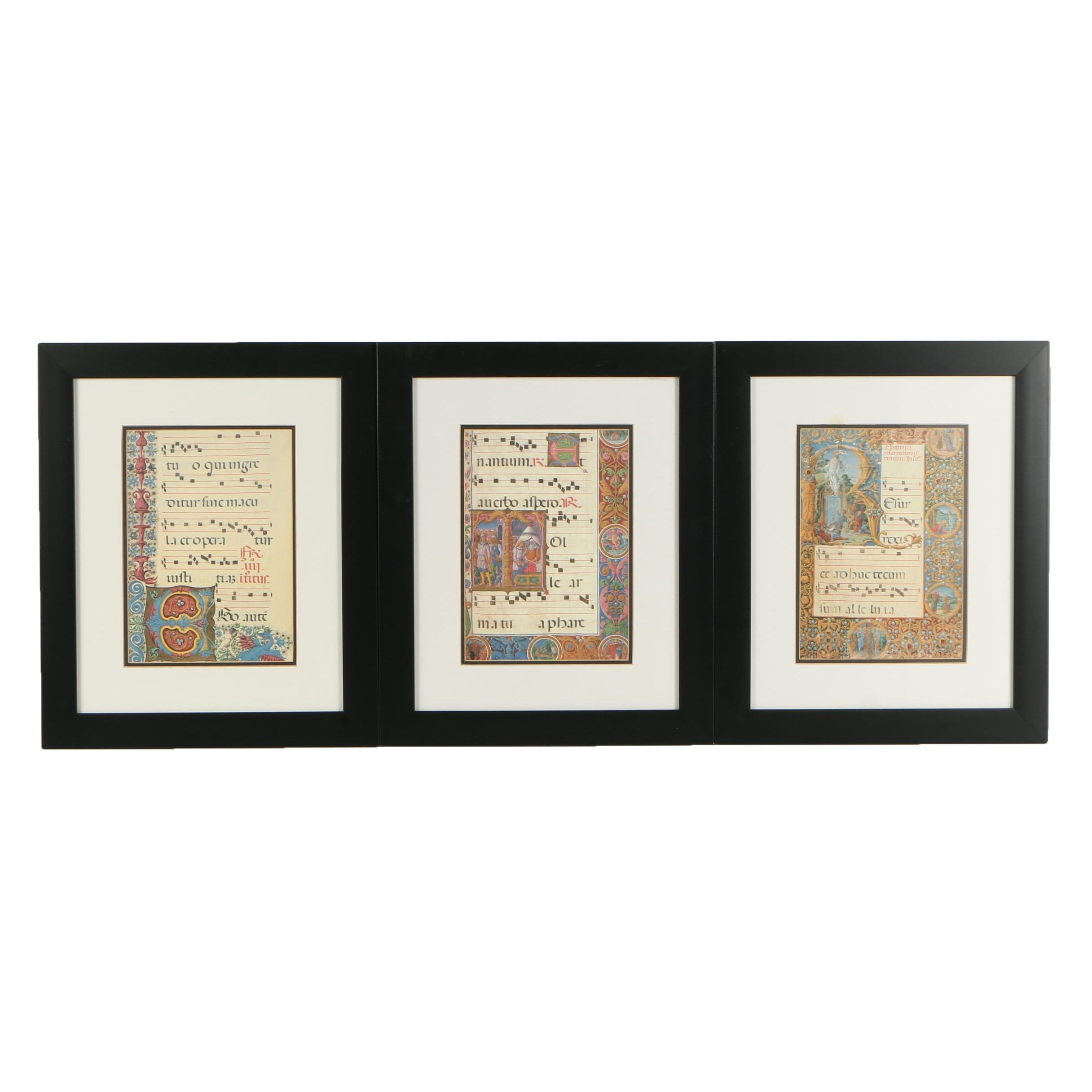 Offset Lithographs After Illuminated Manuscript Pages