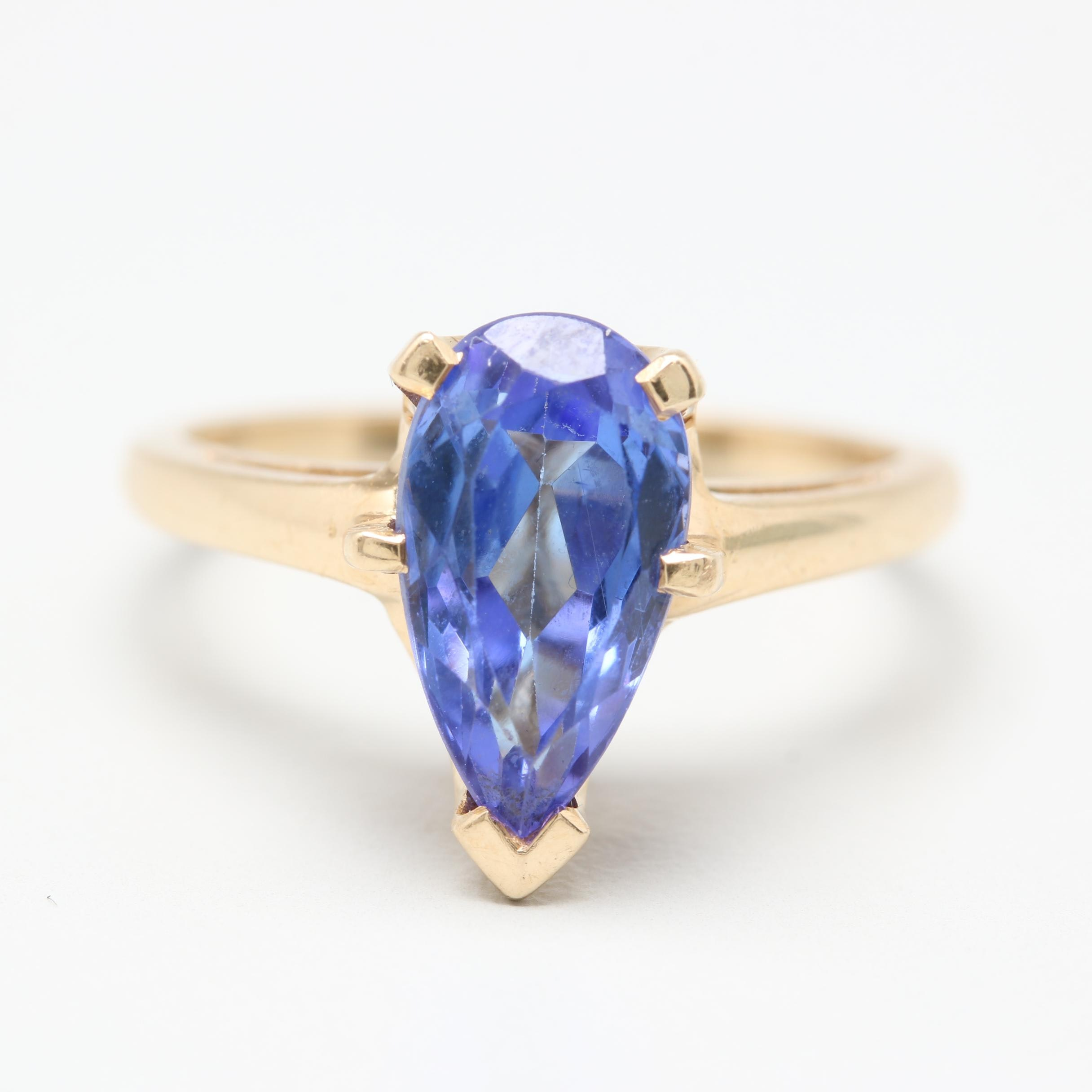 14K Yellow Gold Tanzanite Ring