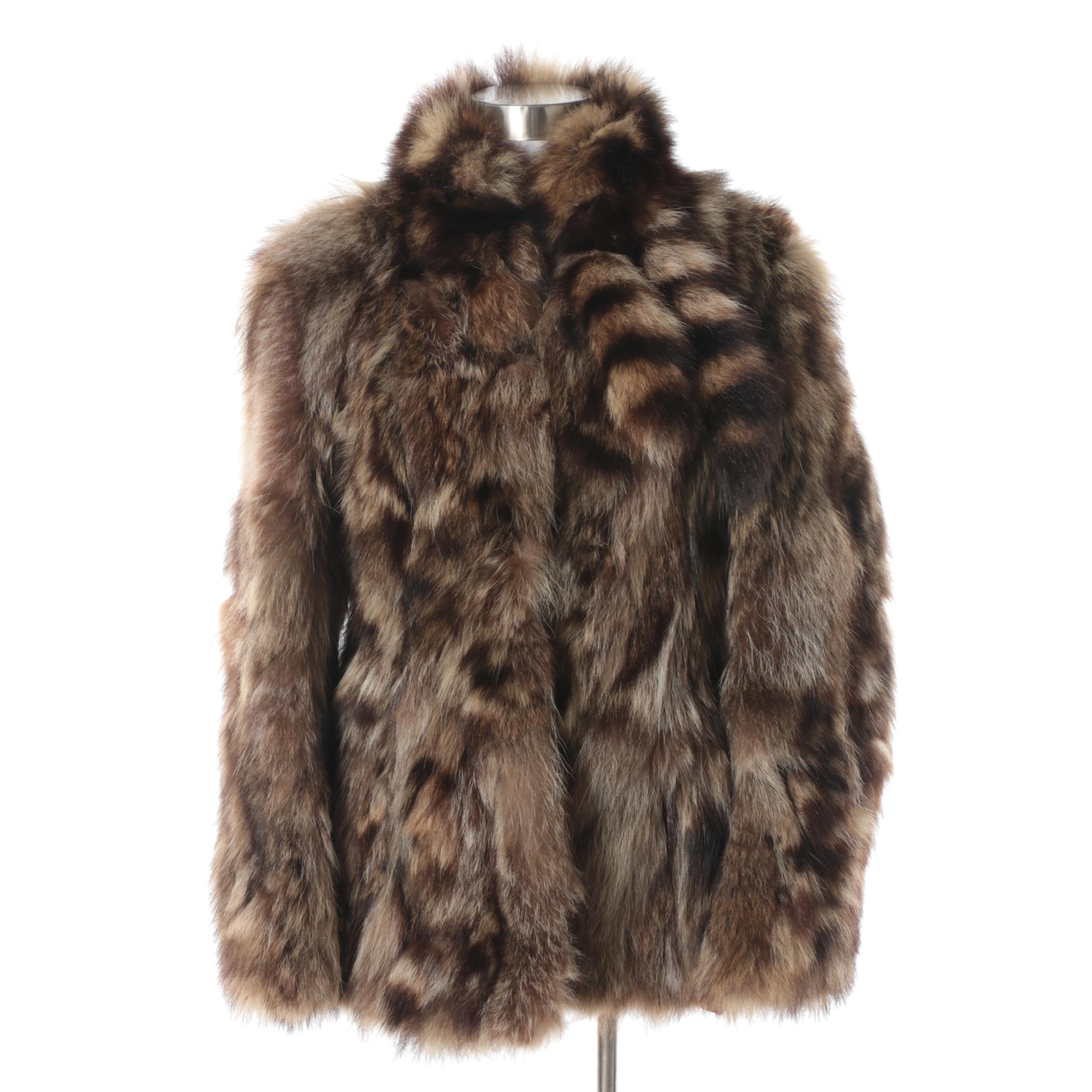 Women's Vintage Raccoon Fur Coat