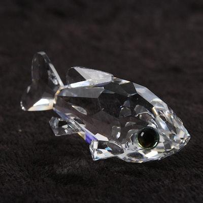 7c4b936de Swarovski Crystal Miniature Goldfish Figurine Designed by Michael Stamey