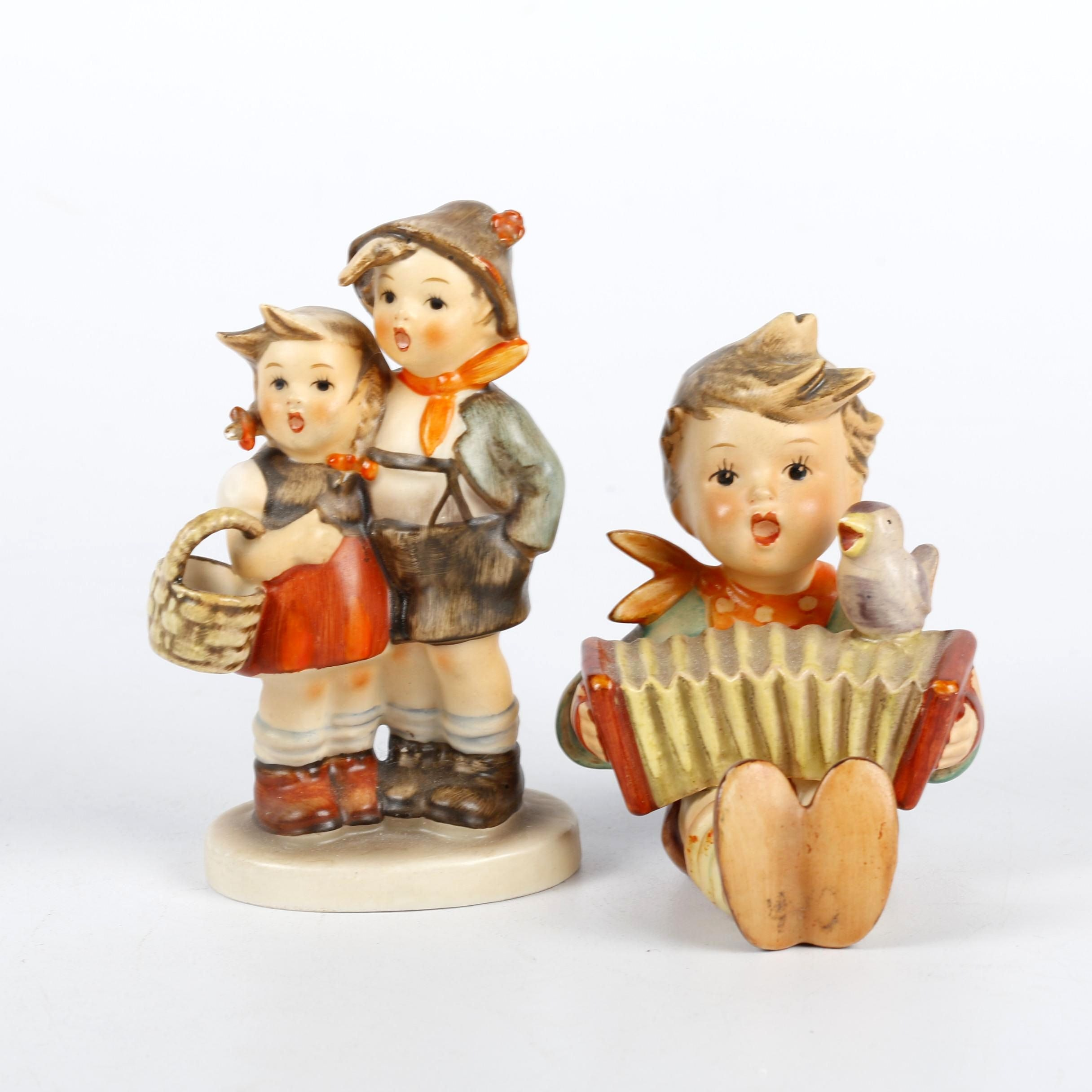 "1960-1972 Goebel Hummel ""Let's Sing"" and Boy/Girl ""Surprise"" Figurines"