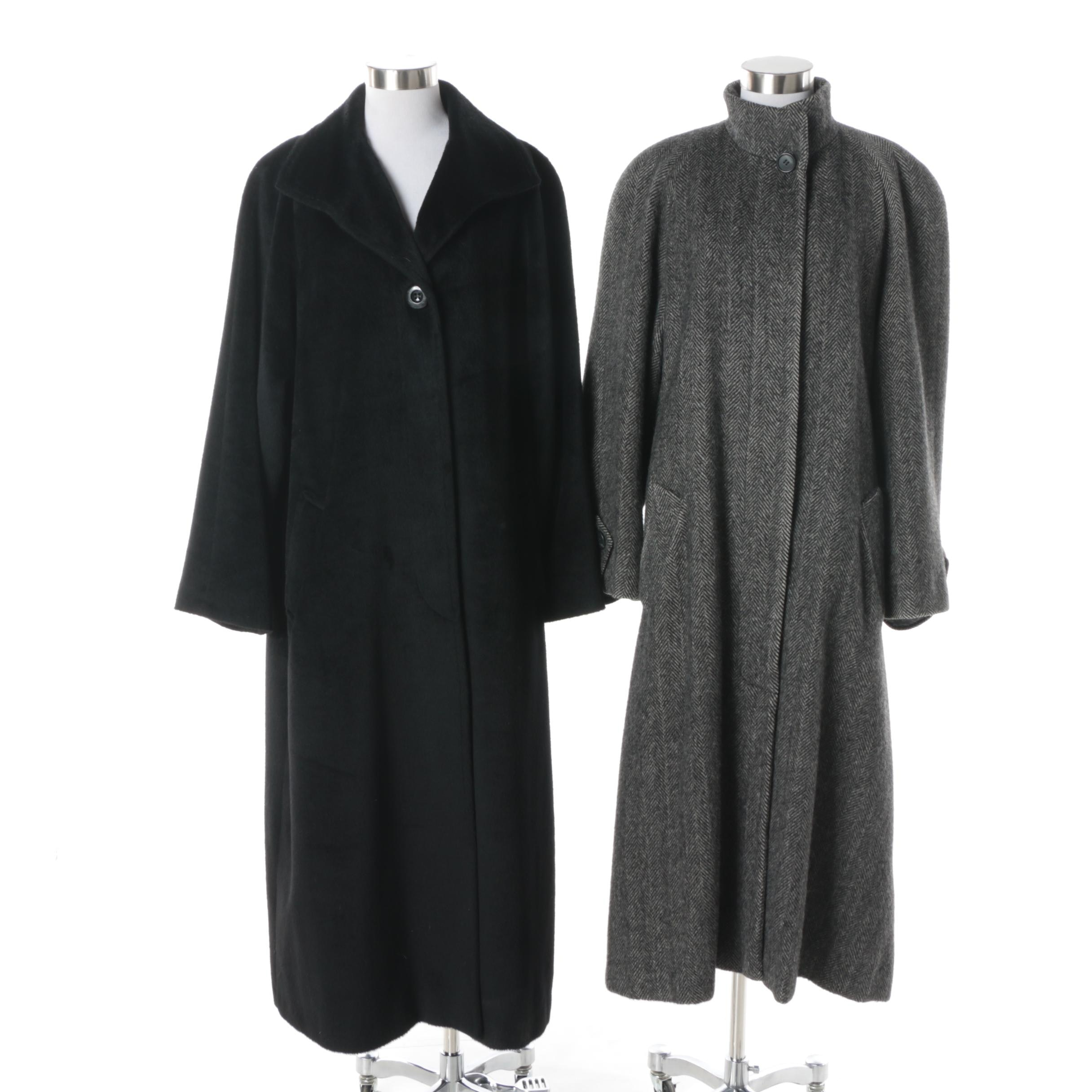 Women's Perry Ellis and Jones New York Wool Blend Overcoats