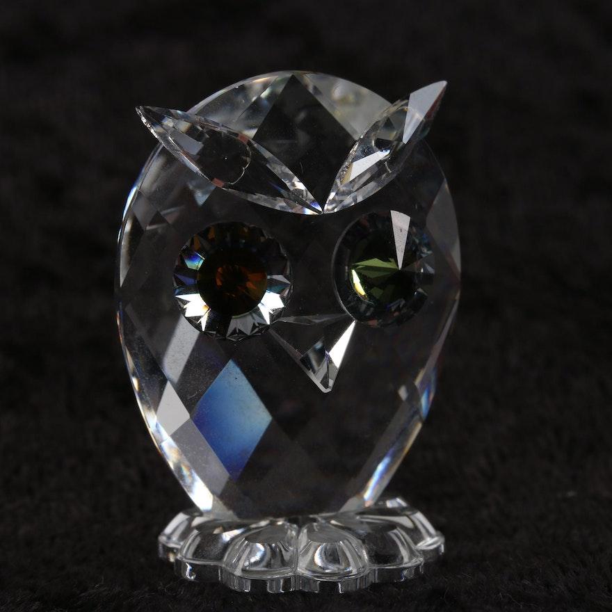 478d70f58 Swarovski Crystal Miniature Owl Figurine Designed by Max Schreck : EBTH