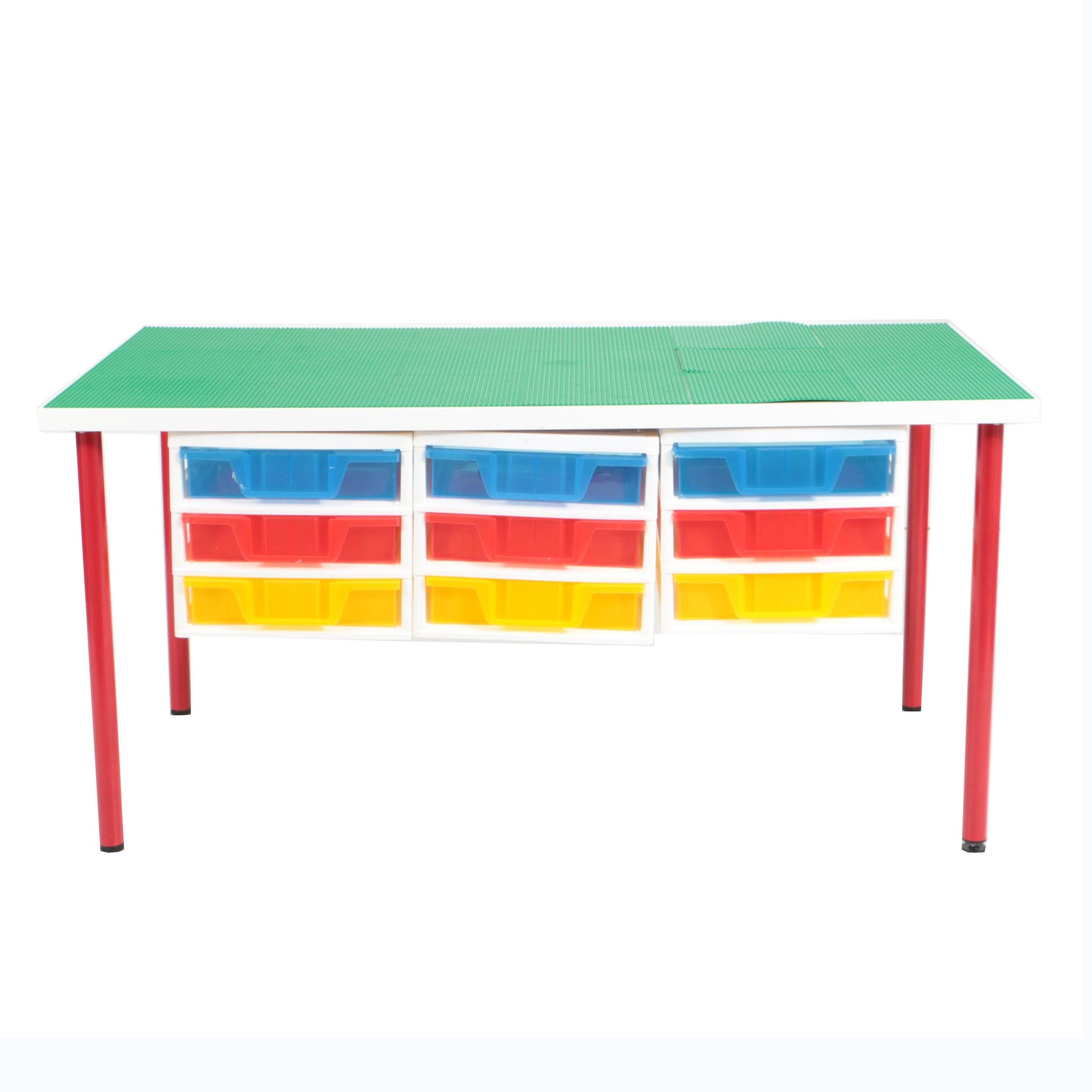 Lego Style Construction and Building Toy Table