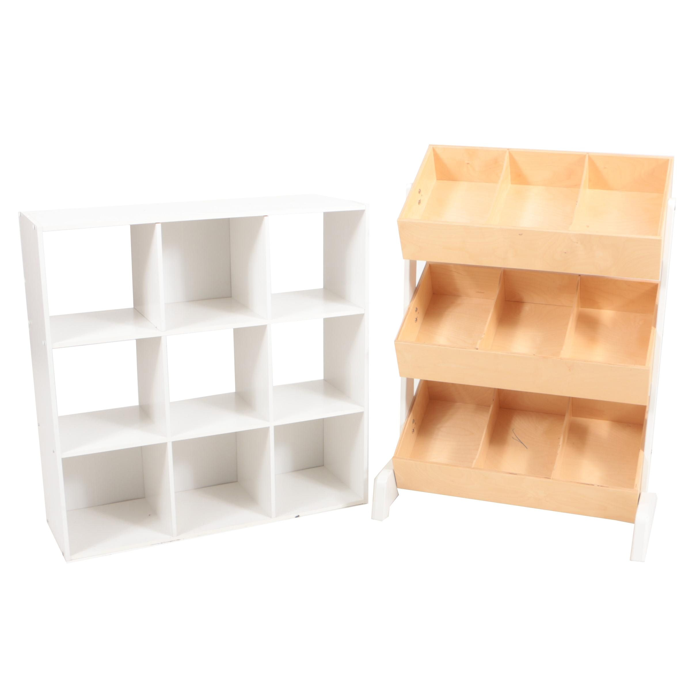 """Oeuf Eco-Friendly """"Toy Store"""" Storage System and Melamine Bookcase"""