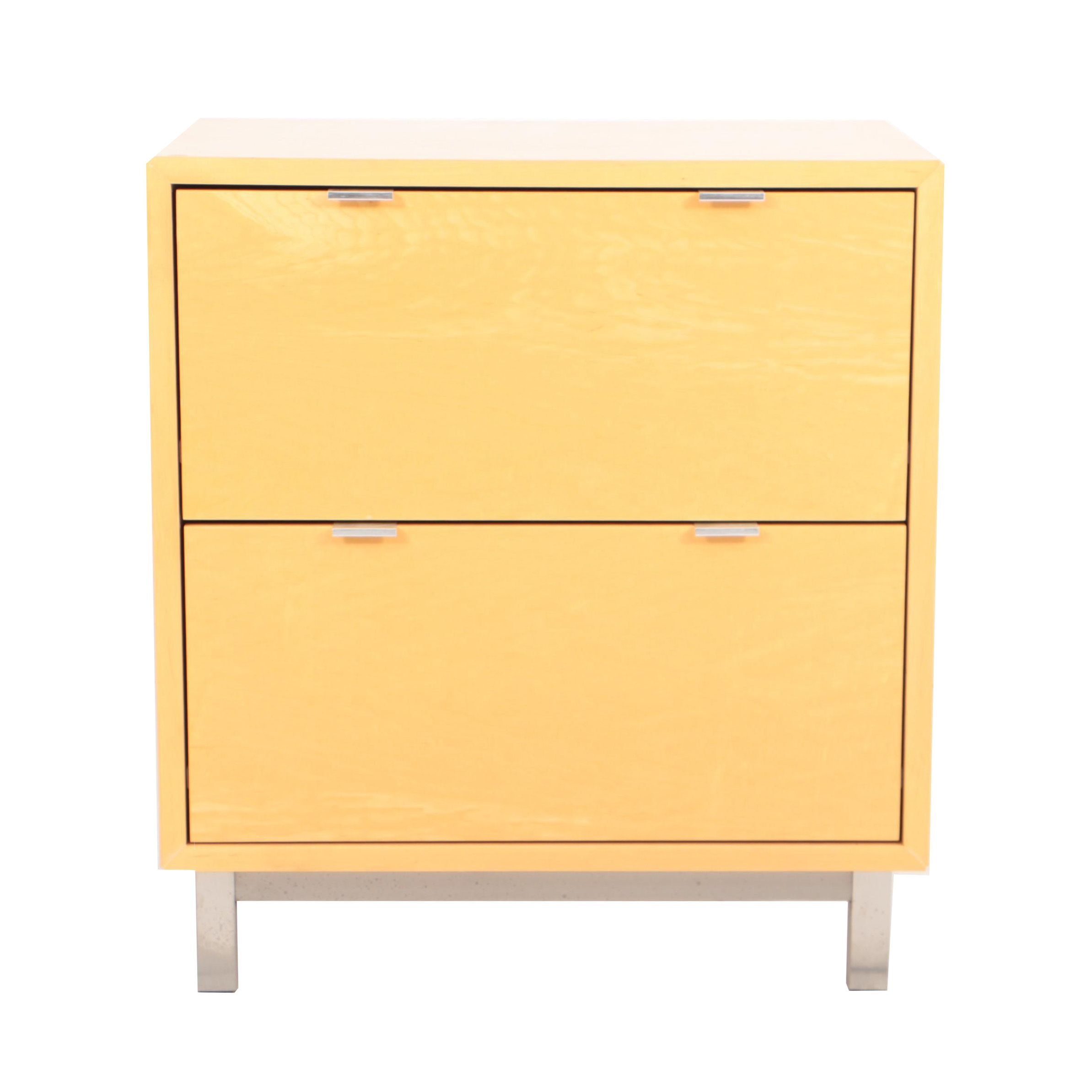 Beech Veneer Wood with Aluminum Hardware Lateral File Cabinet