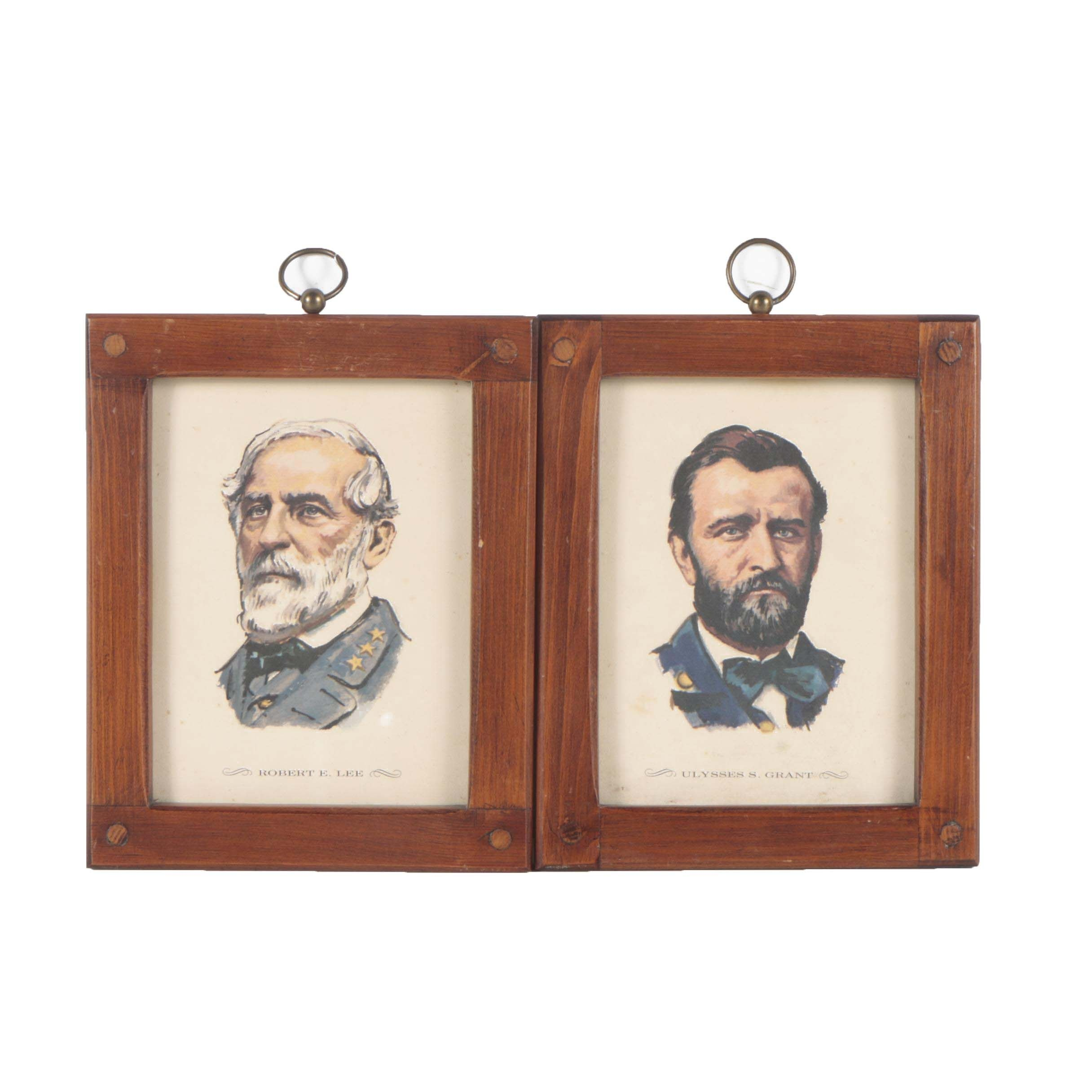 Offset Lithographs of Robert E. Lee and Ulysses S. Grant