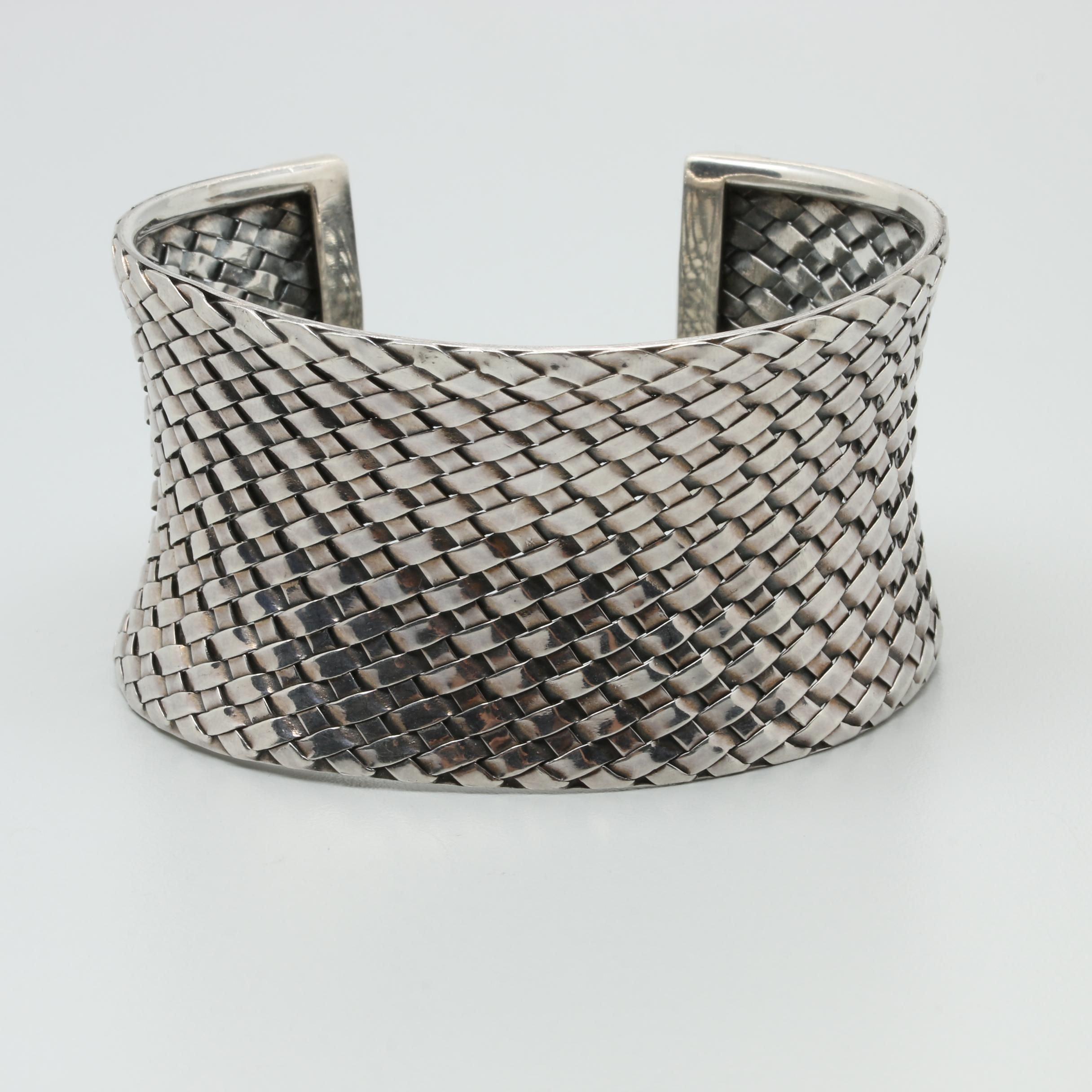 Svarti of Bali Sterling Silver Cuff Bracelet
