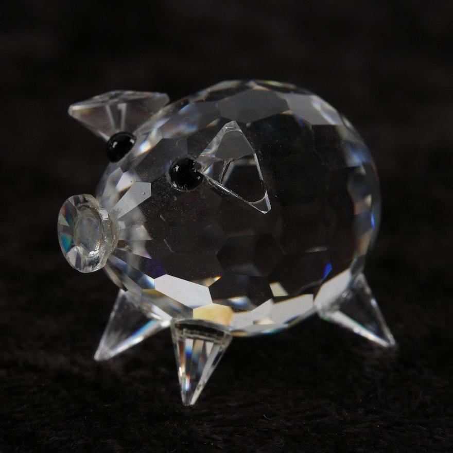e3210e8a7 Swarovski Crystal Miniature Pig Figurine Designed by Max Schreck : EBTH