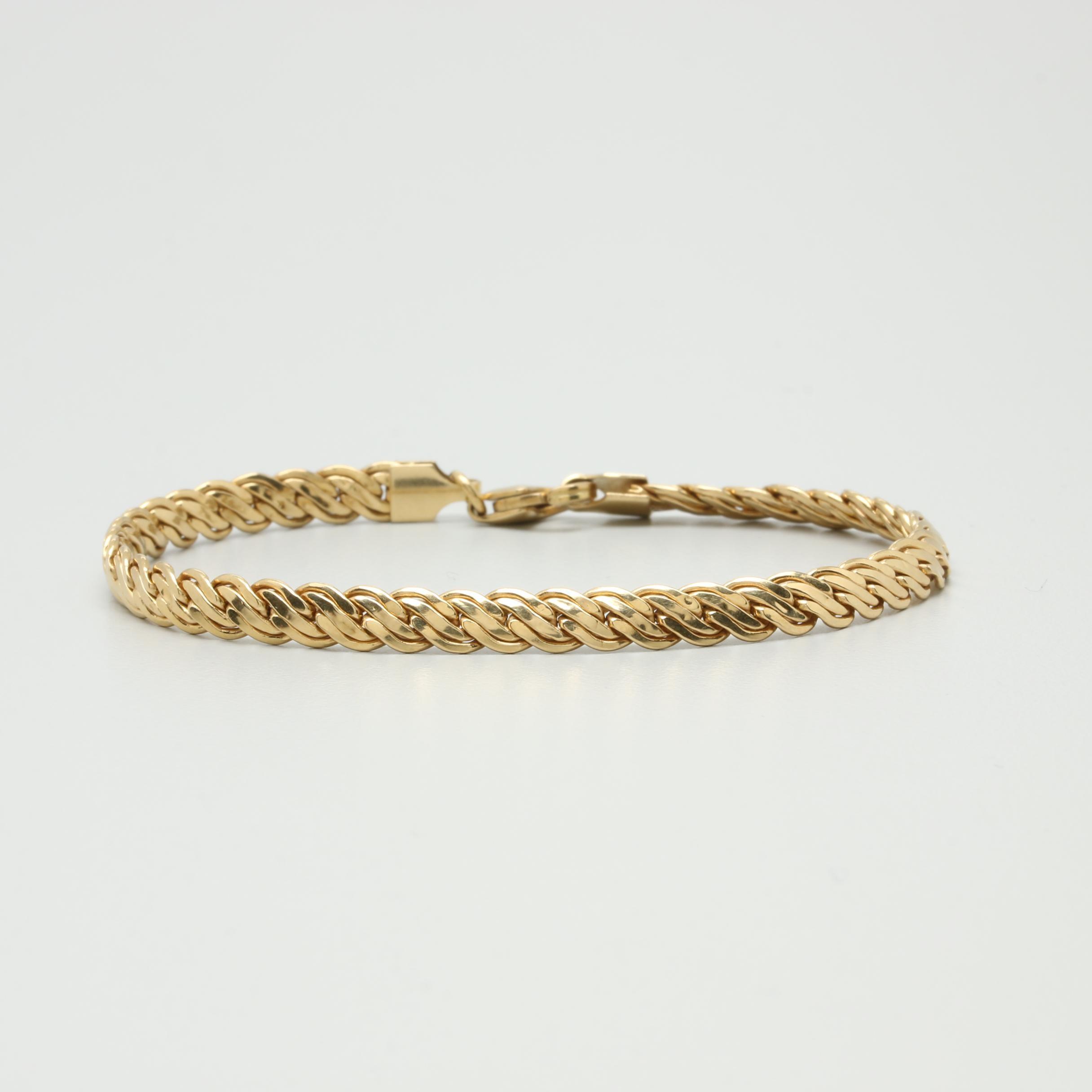 Milor 18K Yellow Gold Fancy Link Bracelet