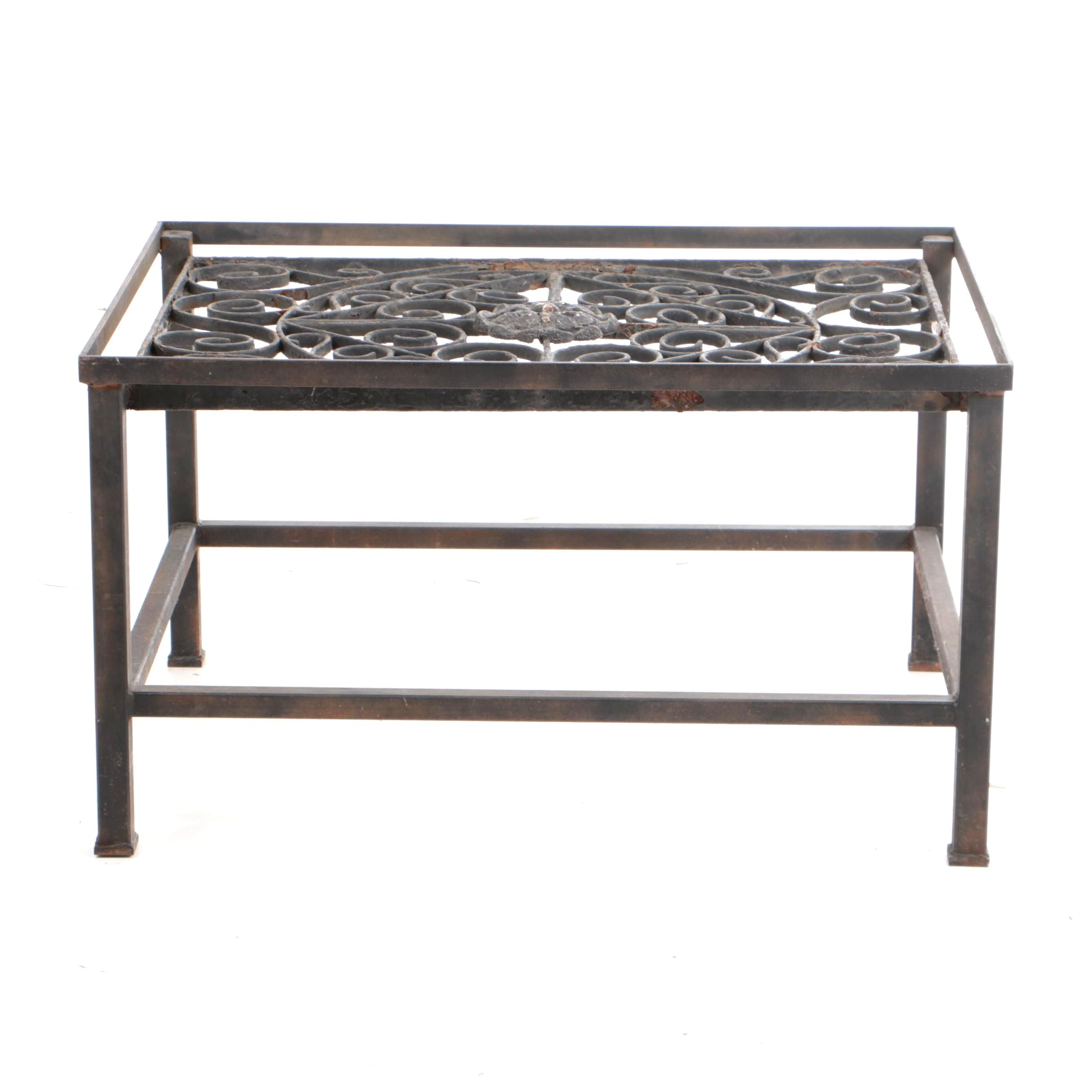 Hand Forged Cast Iron Coffee Table