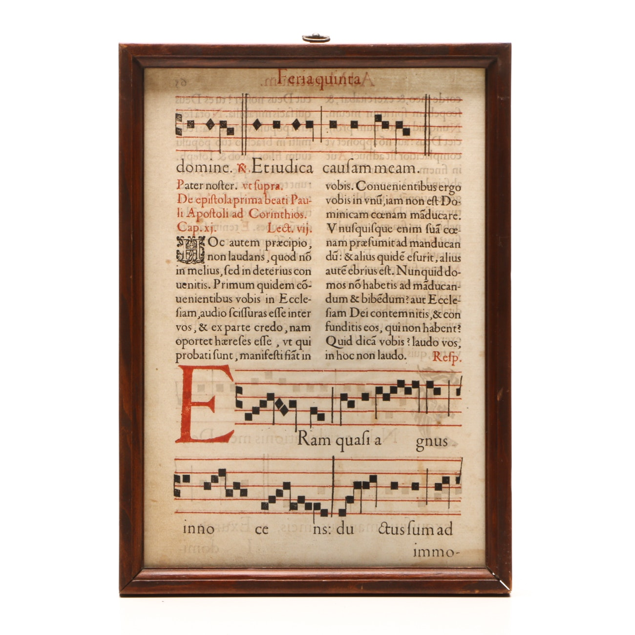 Antique Leaf from Antiphonal Book of Song