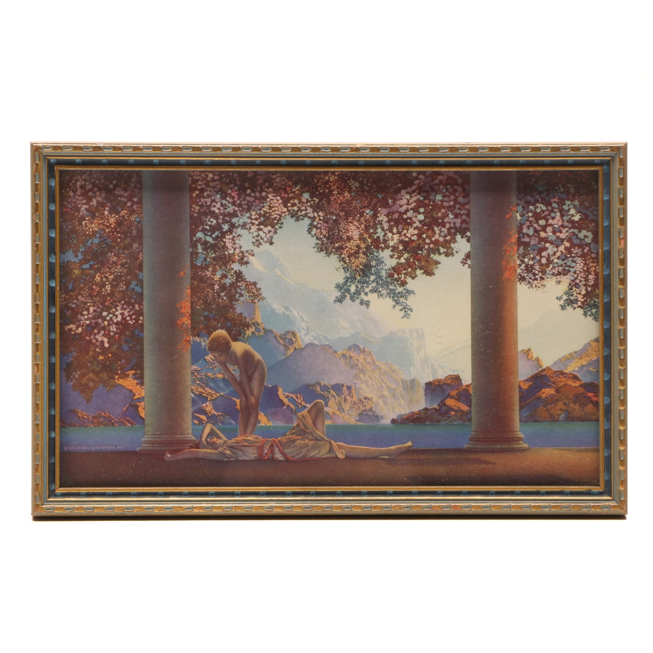 "Offset Lithograph after Maxfield Parrish 1922 Painting ""Daybreak"""