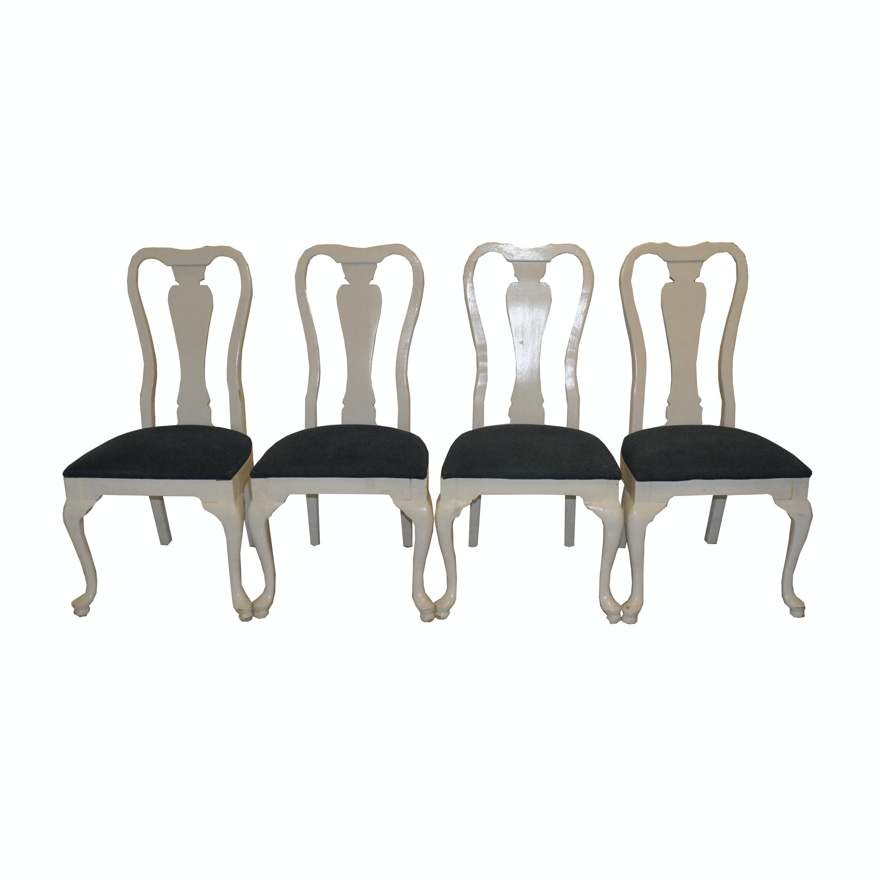 Four Queen Anne Style Dining Chairs