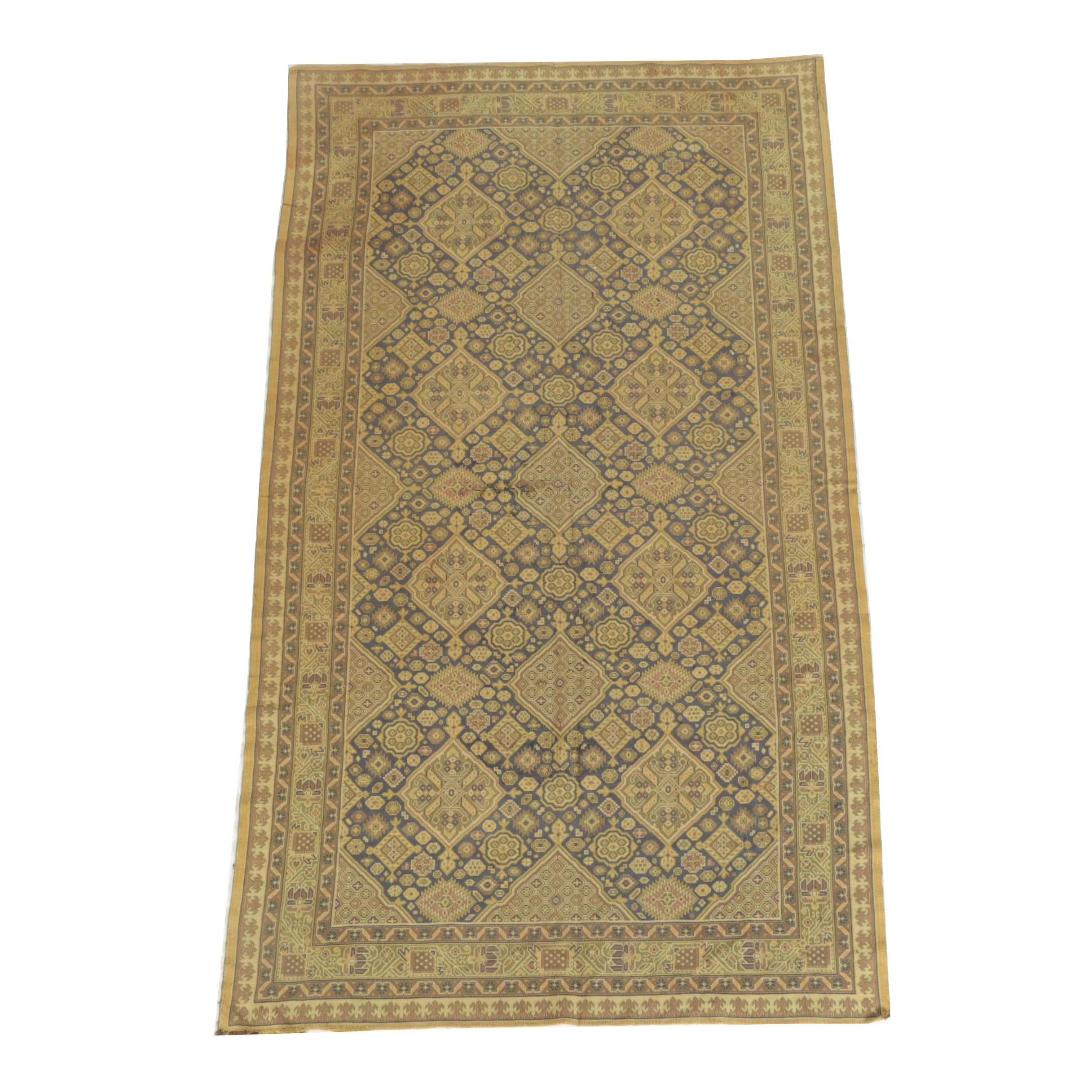 Power-Loomed Caucasian-Style Area Rug