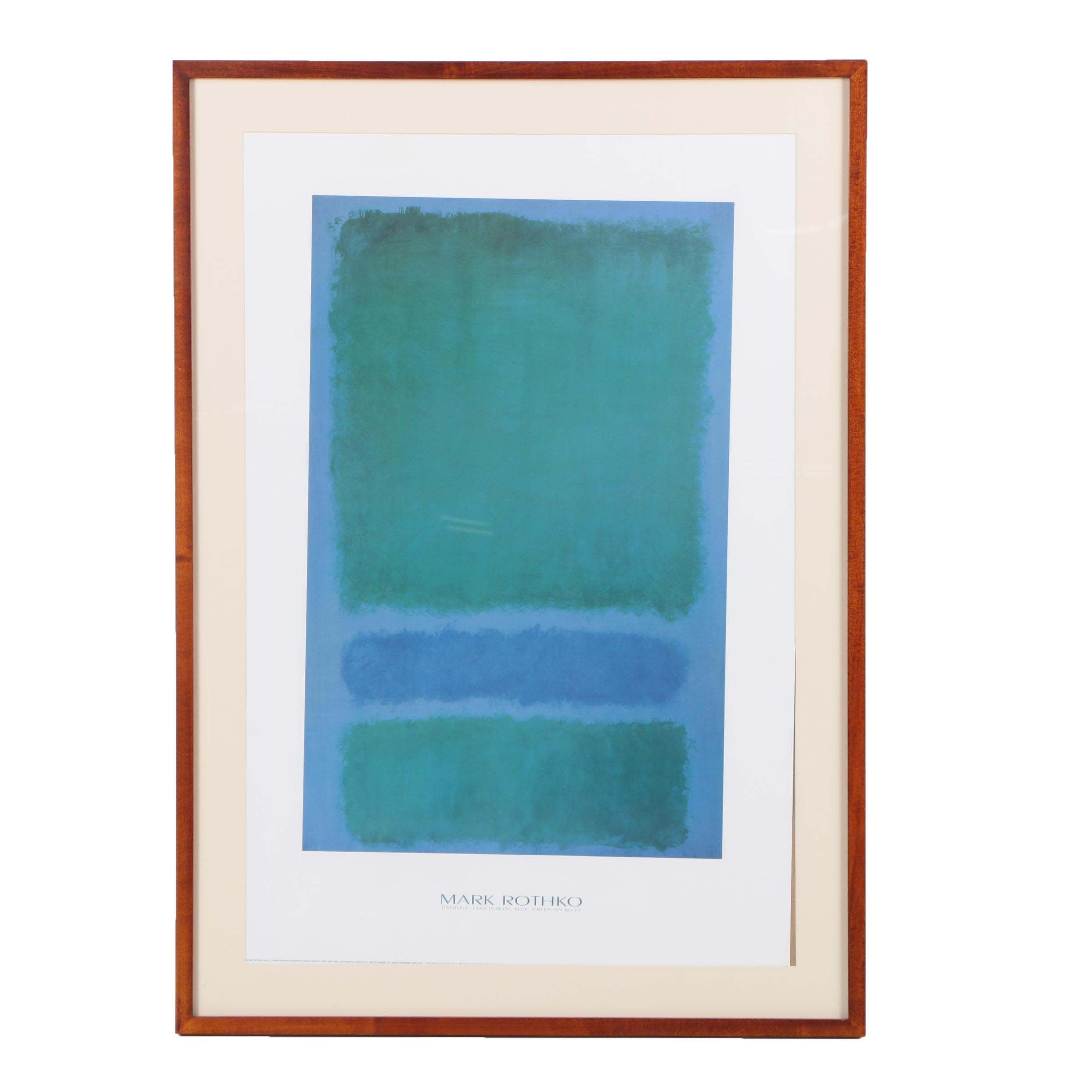 "Offset Lithograph After Mark Rothko ""Untitled"""