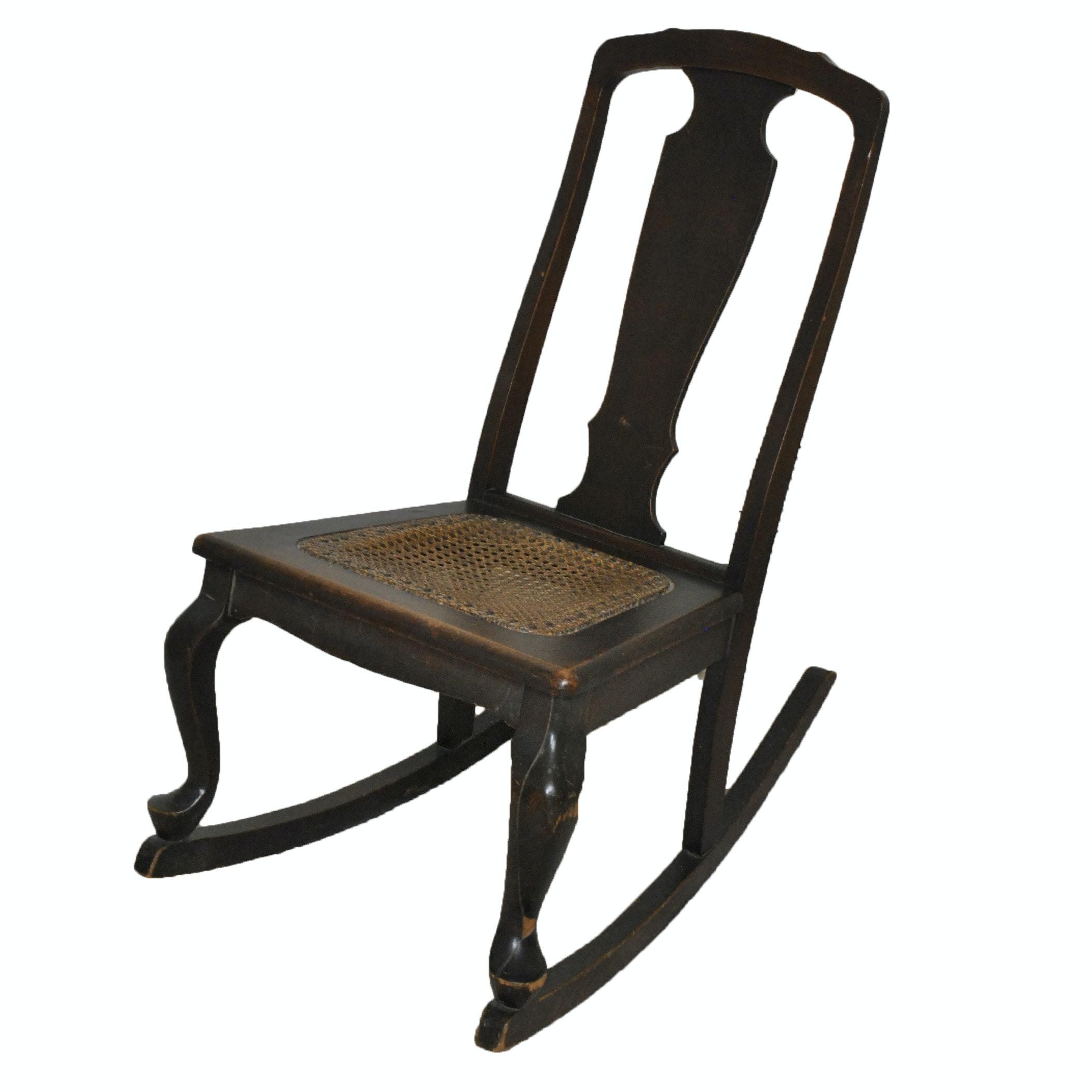 Antique Queen Anne Rocking Chair